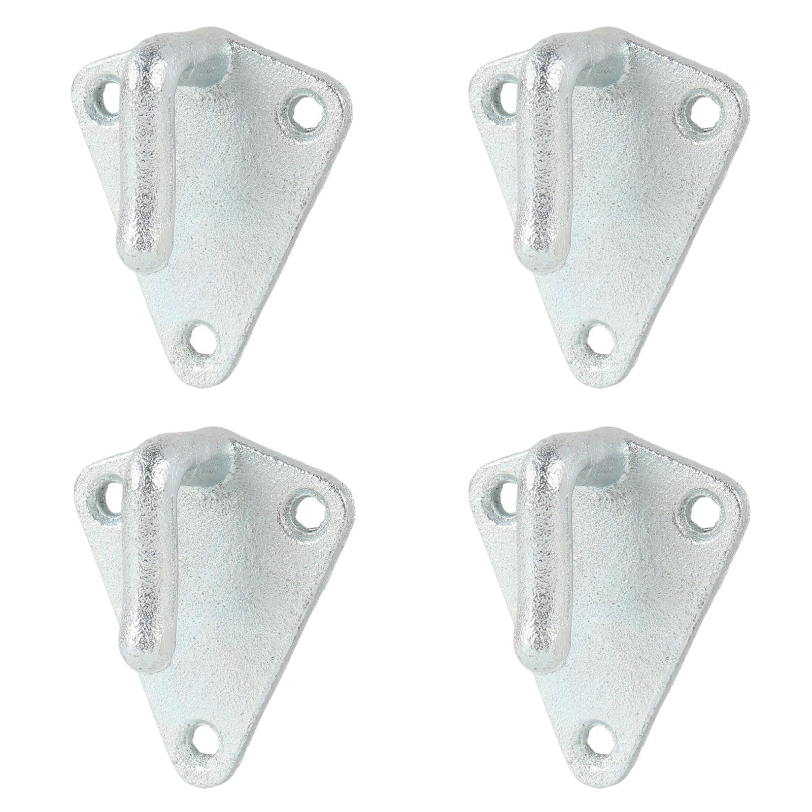4x Planenhaken Metall mit Öse 40x45mm Dreieck Stahl verzinkt Netz Haken Anhänger