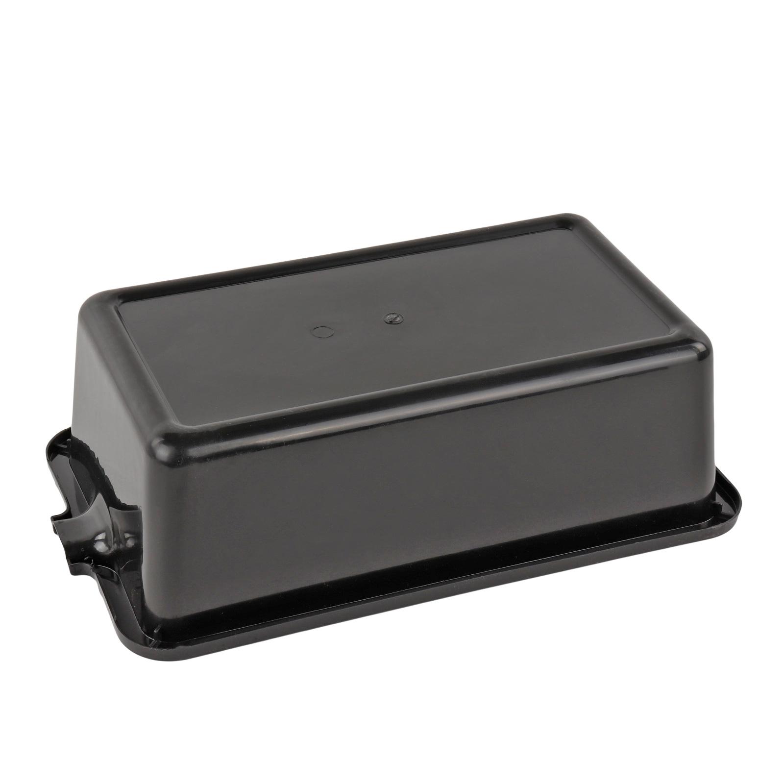 lauffangwanne 6 liter schwarz kunststoff mit ausgie er. Black Bedroom Furniture Sets. Home Design Ideas