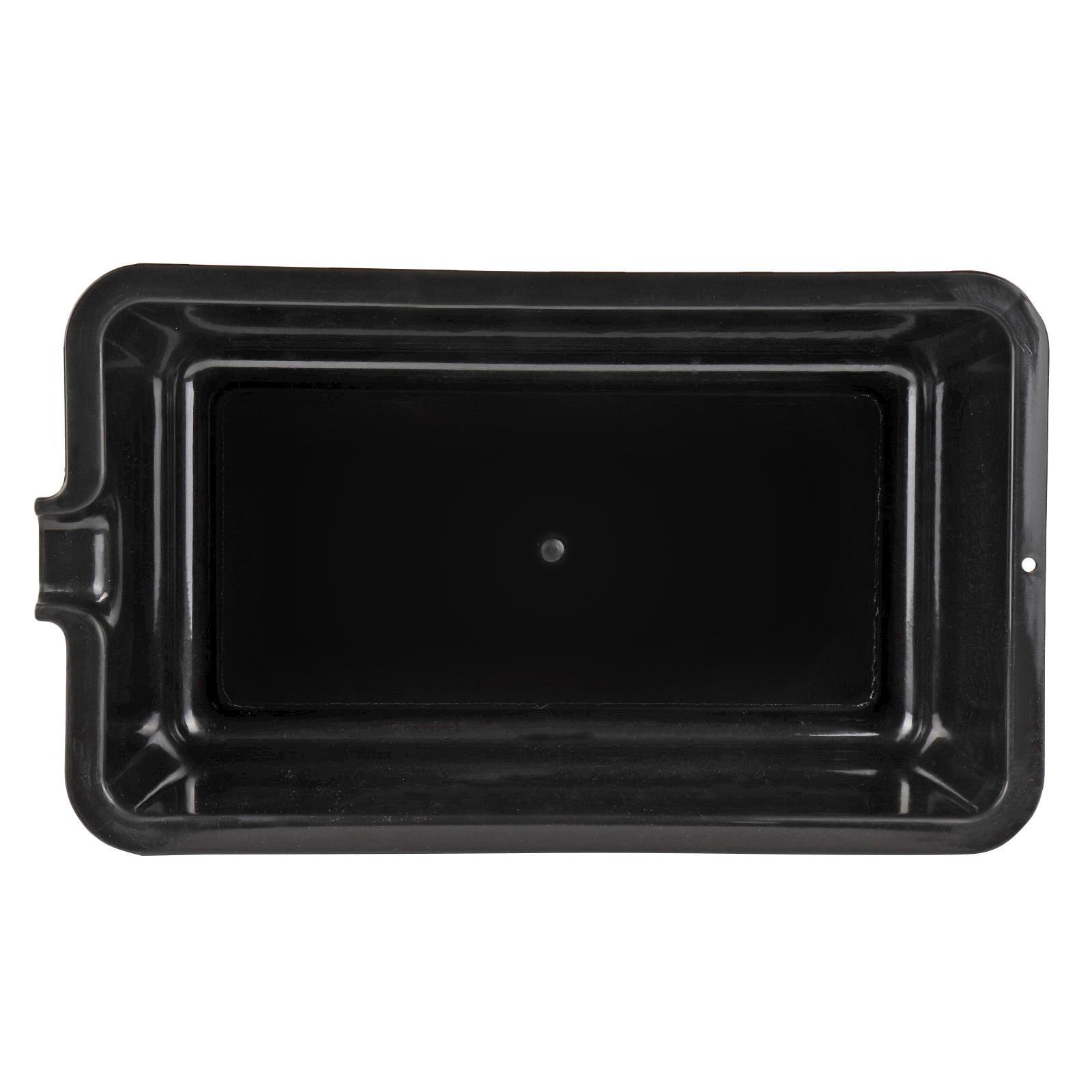 lauffangwanne 6 liter schwarz kunststoff mit ausgie er f r motorrad atv auto ebay. Black Bedroom Furniture Sets. Home Design Ideas