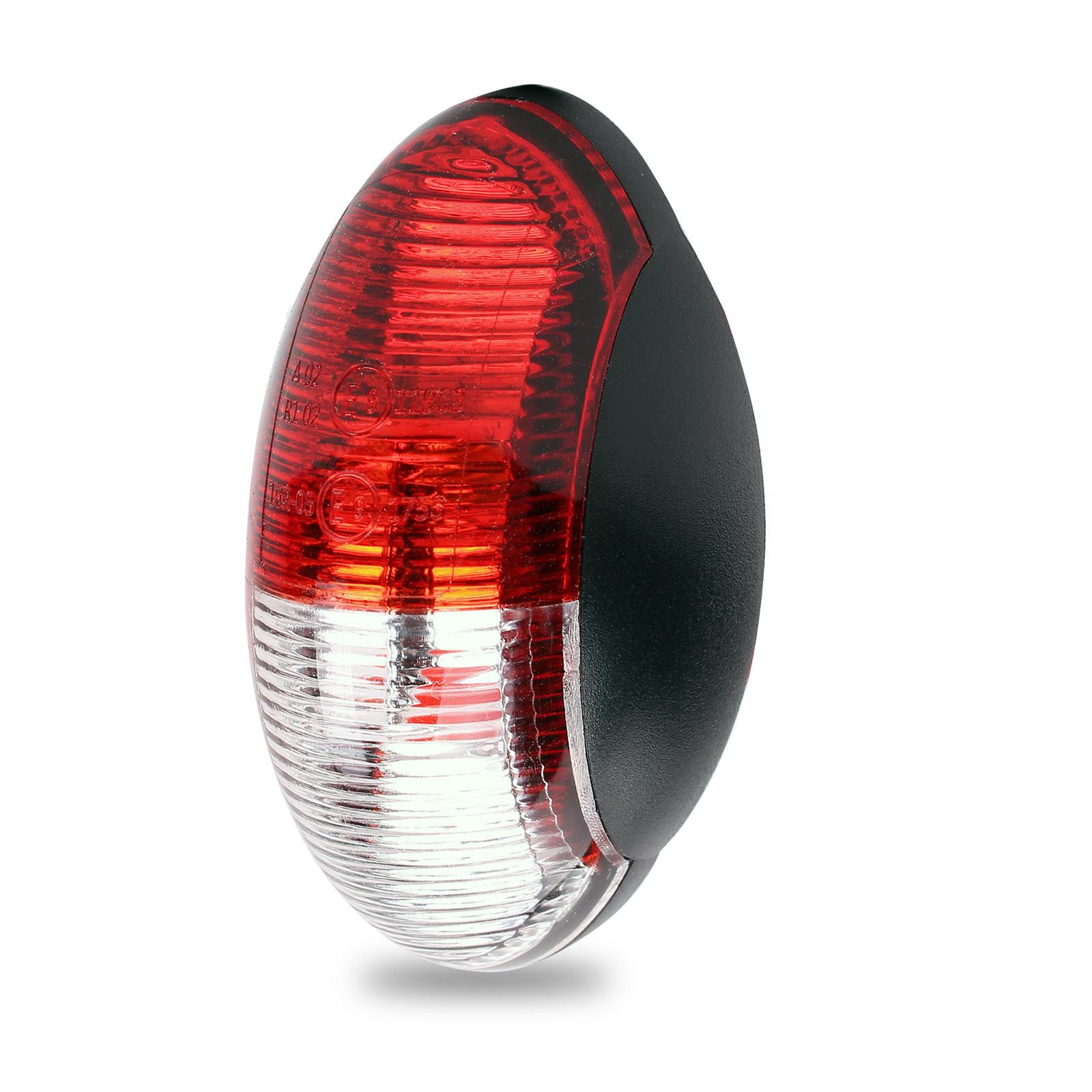 Umrissleuchte LED rot/weiß 60x34 mm, 12 - 30 Volt, LED