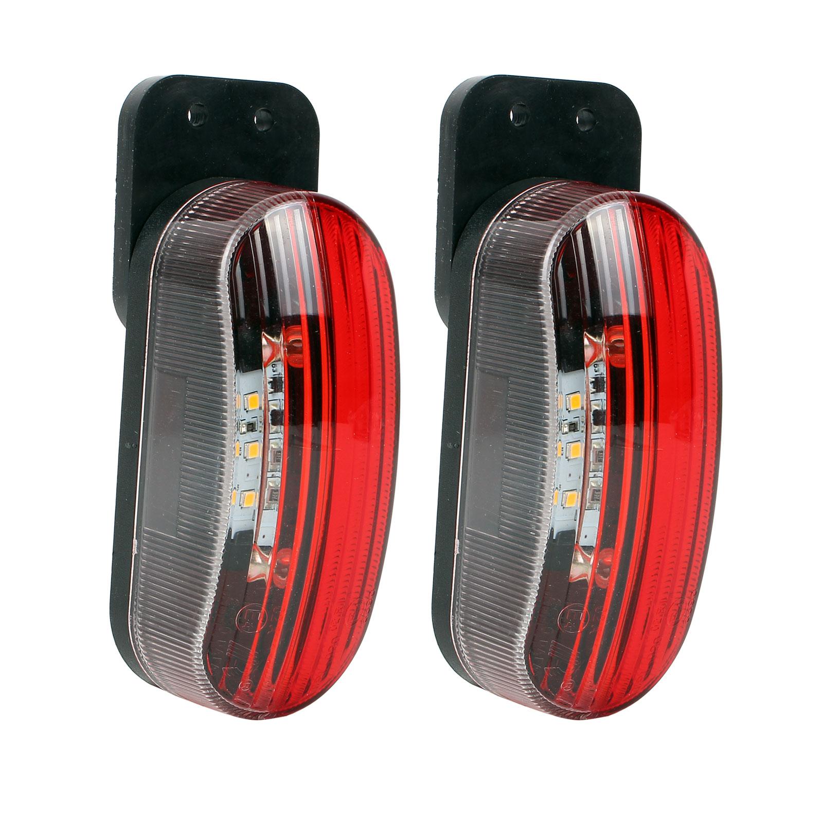 Umrissleuchten 2er Set LED rot/weiß 98x42x38 mm, 12 Volt, 2 Watt