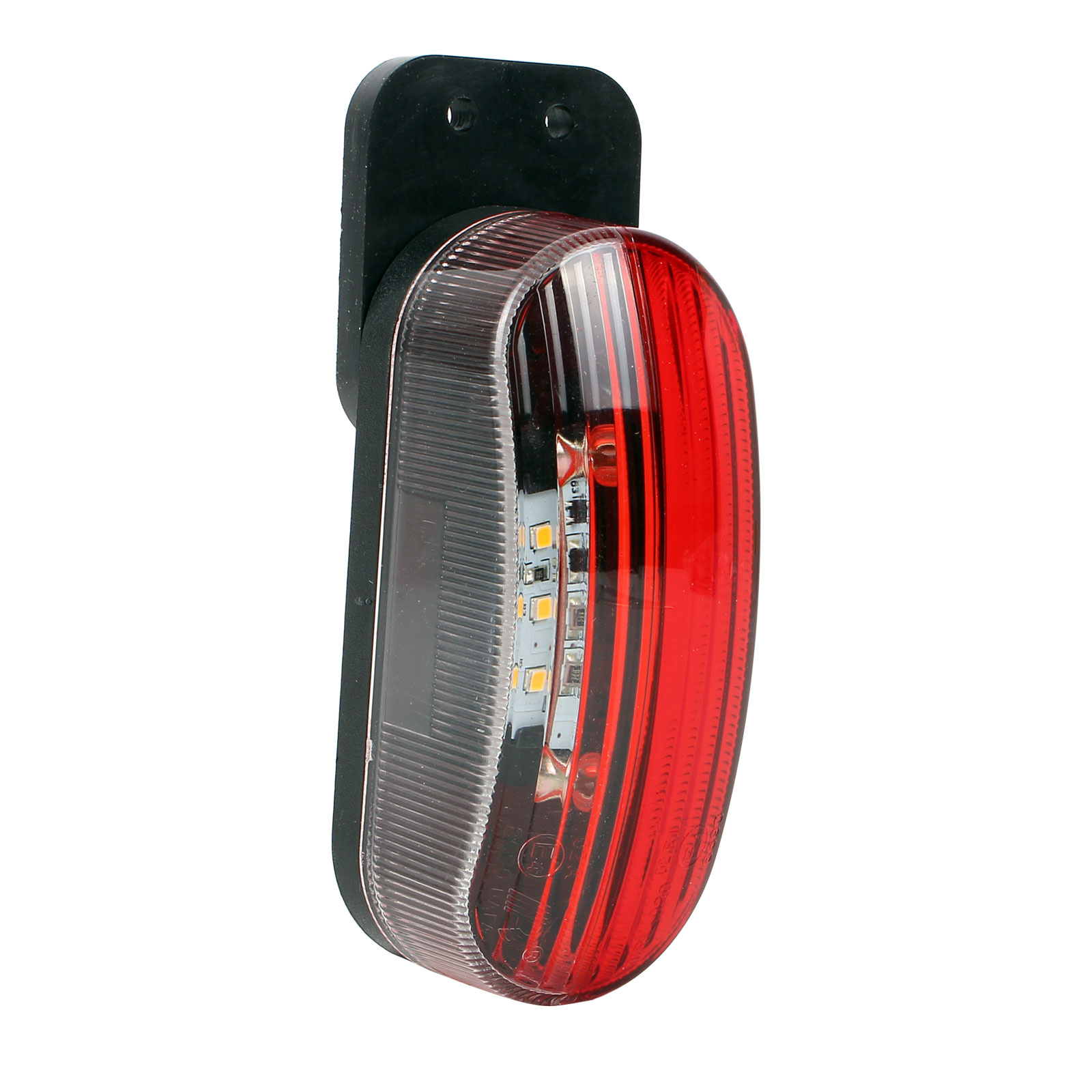 Umrissleuchte LED rot/weiß 98x42x38 mm, 12 Volt, 2 Watt, 6 LED links