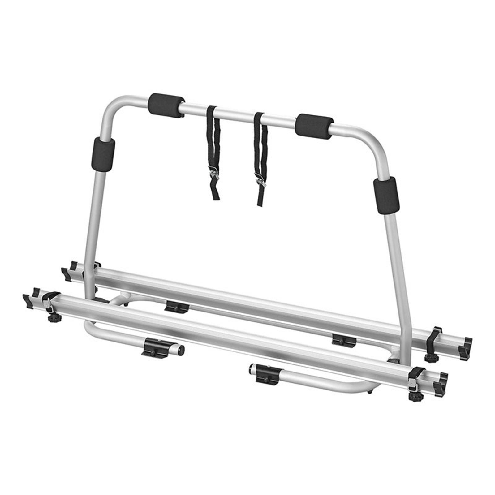 Deichsel Fahrradträger Wohnwagen | 2 Fahrräder |  40Kg belastbar | klappbar