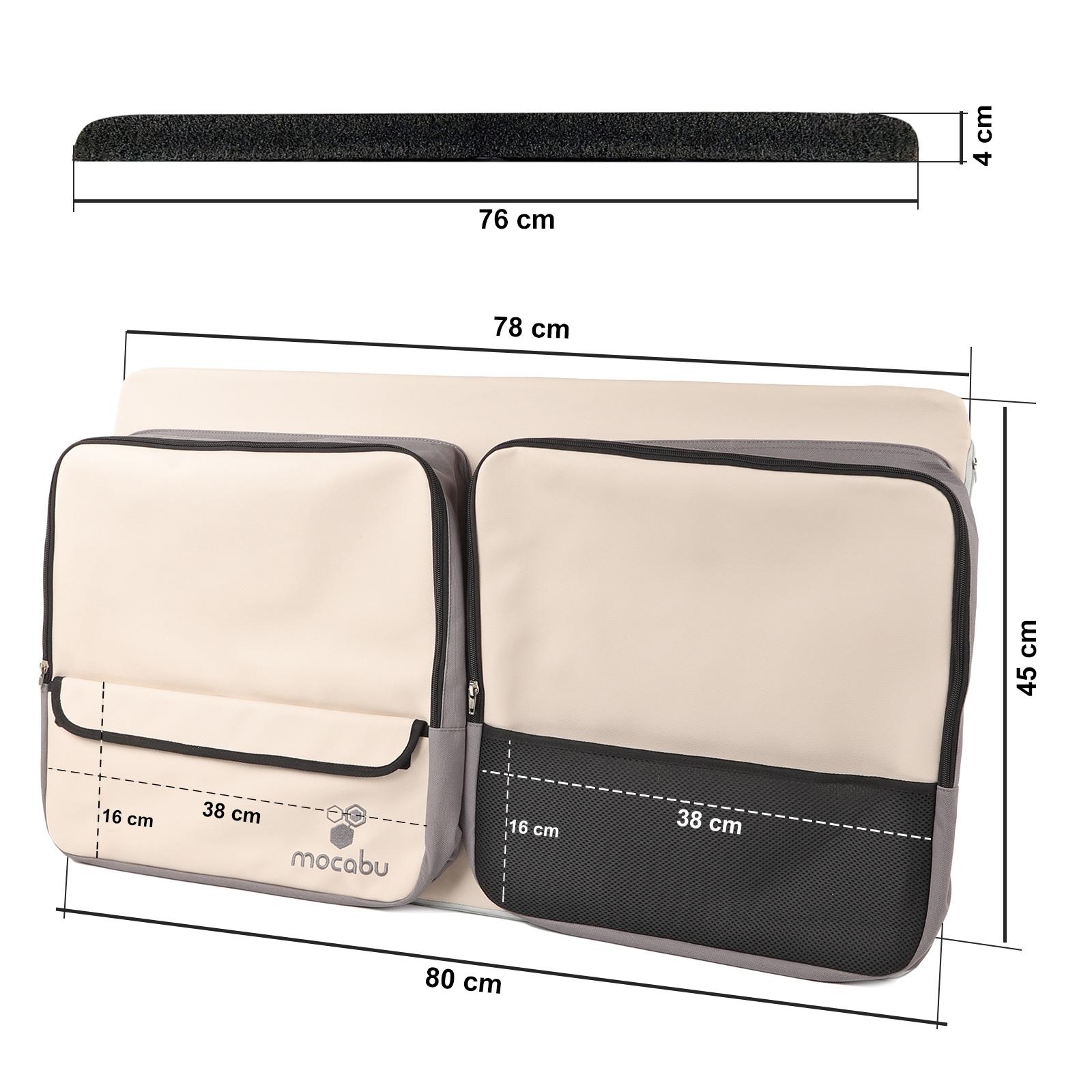 Indexbild 5 -  Fenstertasche Utensilientasche Leinenbeige passend für VW T5 T6 KR links