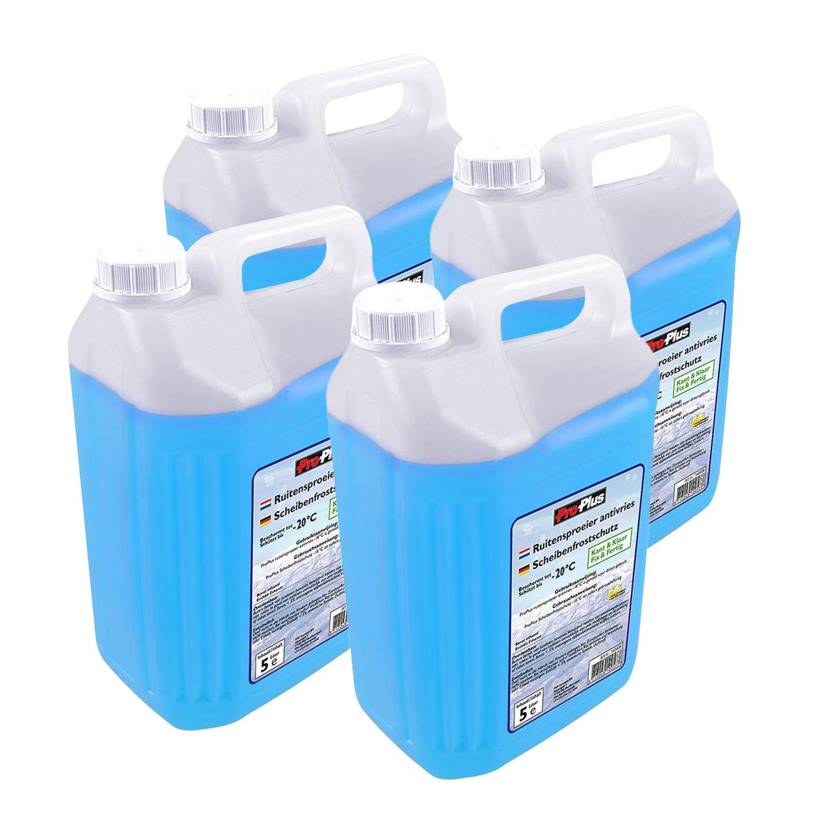 Scheibenfrostschutz gebrauchsfertig 4x 5 Ltr bis -20 Grad blau