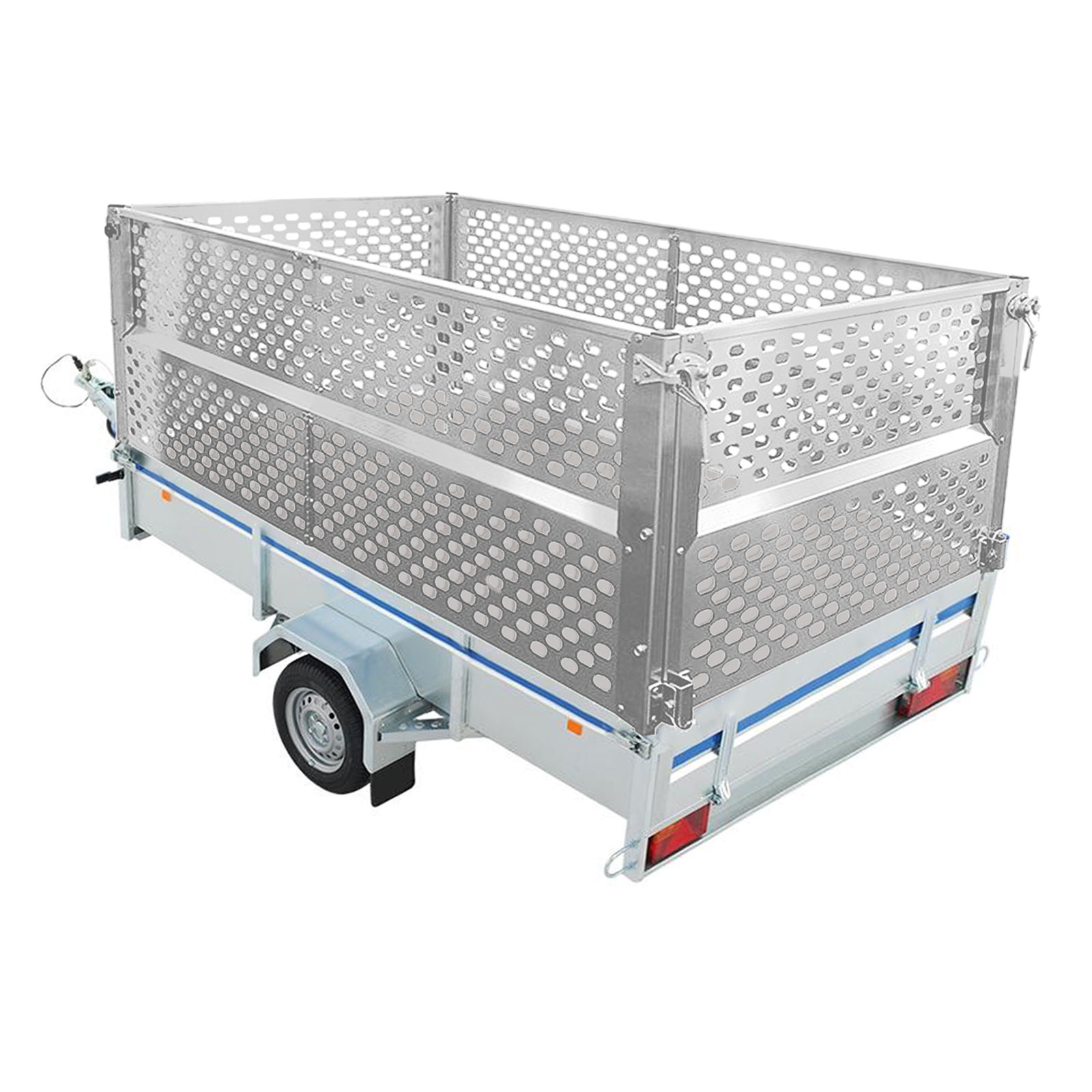 Anhänger Gitteraufsatz 2075x1140x660 mm Aluminium Bordwand Laubgitter