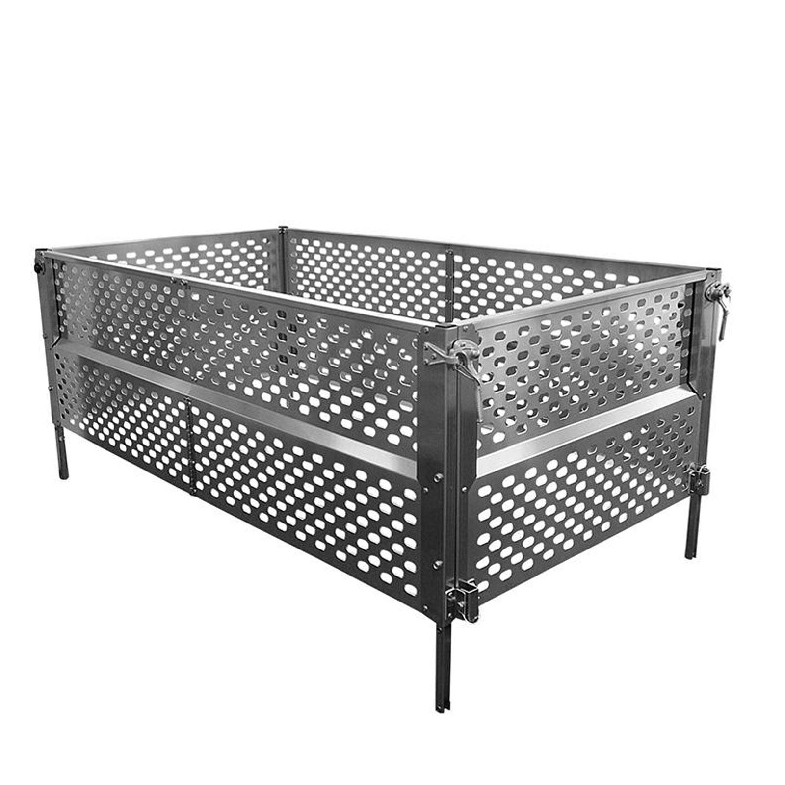 anh nger gitteraufsatz 2075x1140x660 mm aluminium bordwand laubgitter ebay. Black Bedroom Furniture Sets. Home Design Ideas