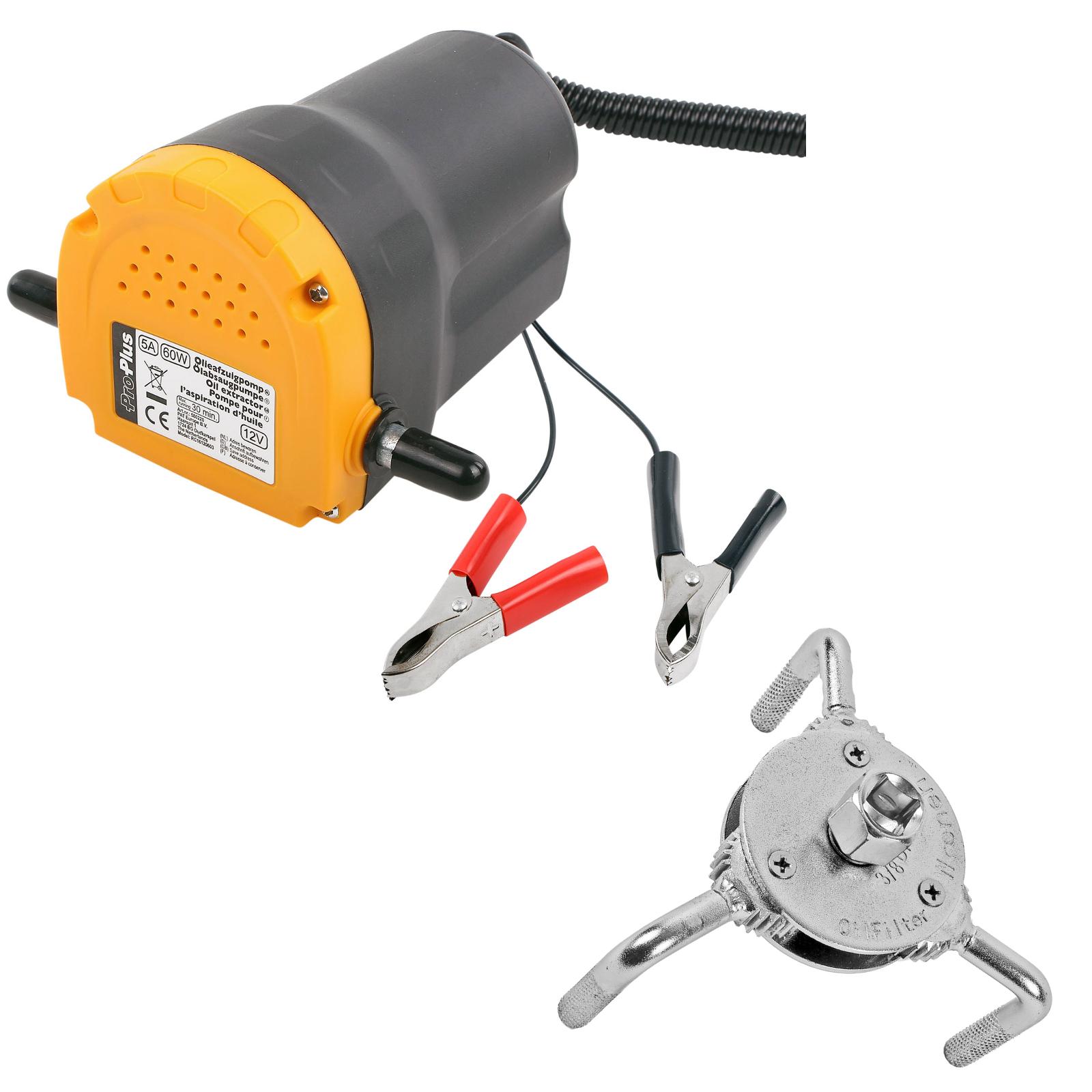 Ölpumpe 12 Volt 60 Watt Messinglamellen 3Ltr Minute + Ölfilterschlüssel 3 armig
