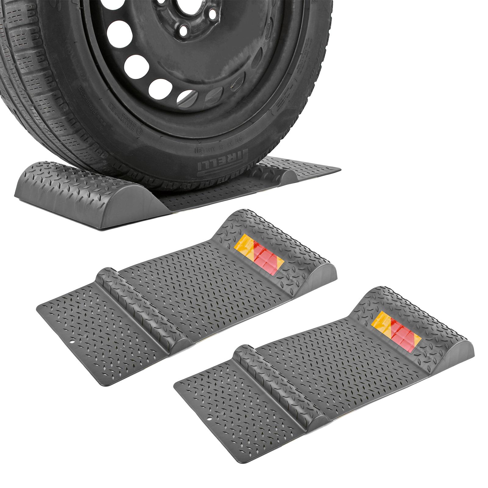 2x Parkmatte Grau 52 x 25 cm selbstklebend rutschfest Einparkhilfe