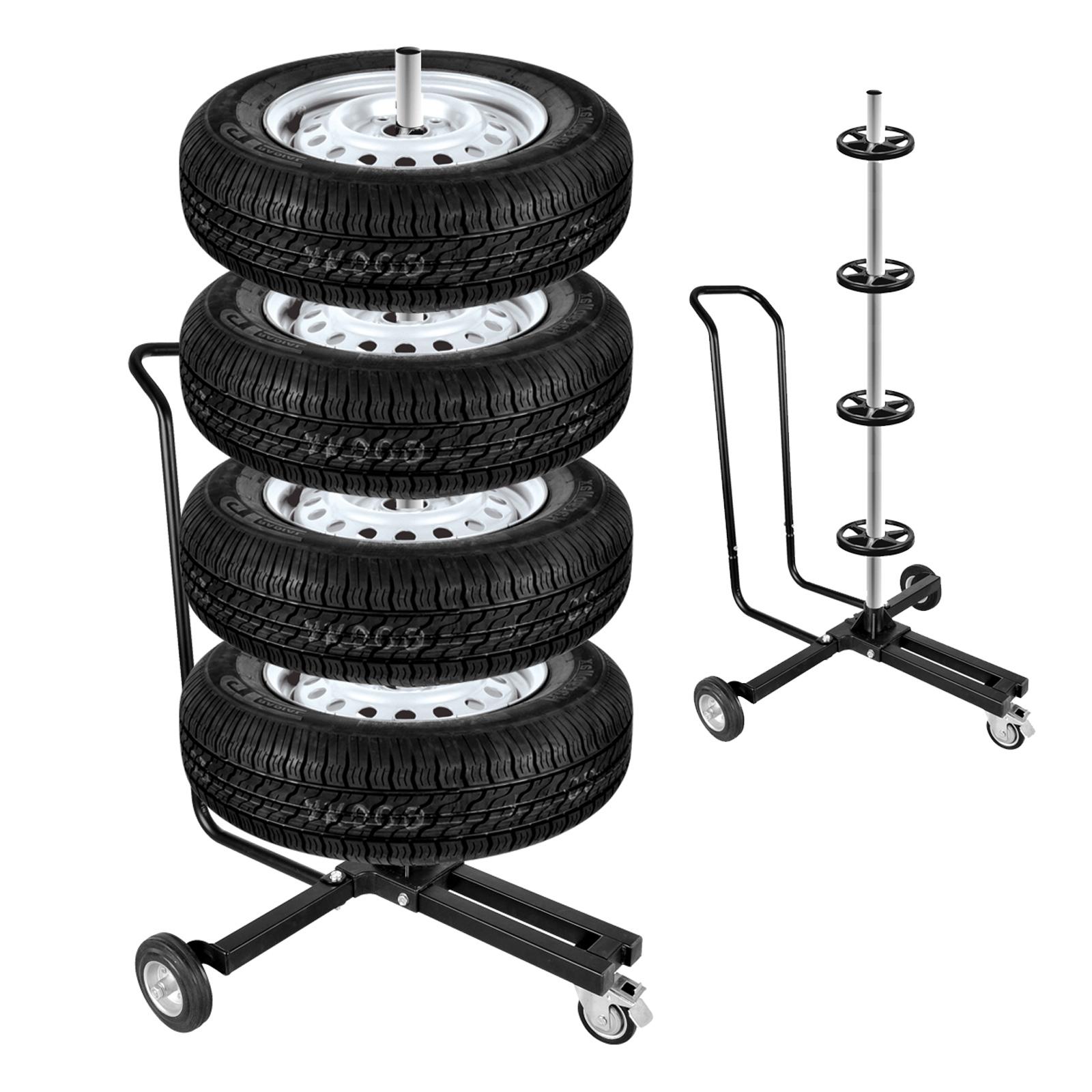 Felgenbaum Alu fahrbar schwarz 225er Reifen 4 Reifen max 100 Kg mit Bremse