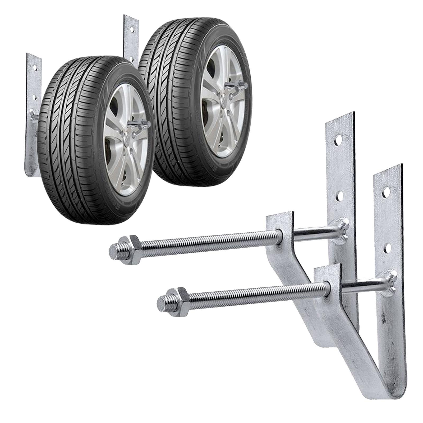 ProPlus Reifenwandhalter Set von 2 Stück inkl Schrauben und Dübel