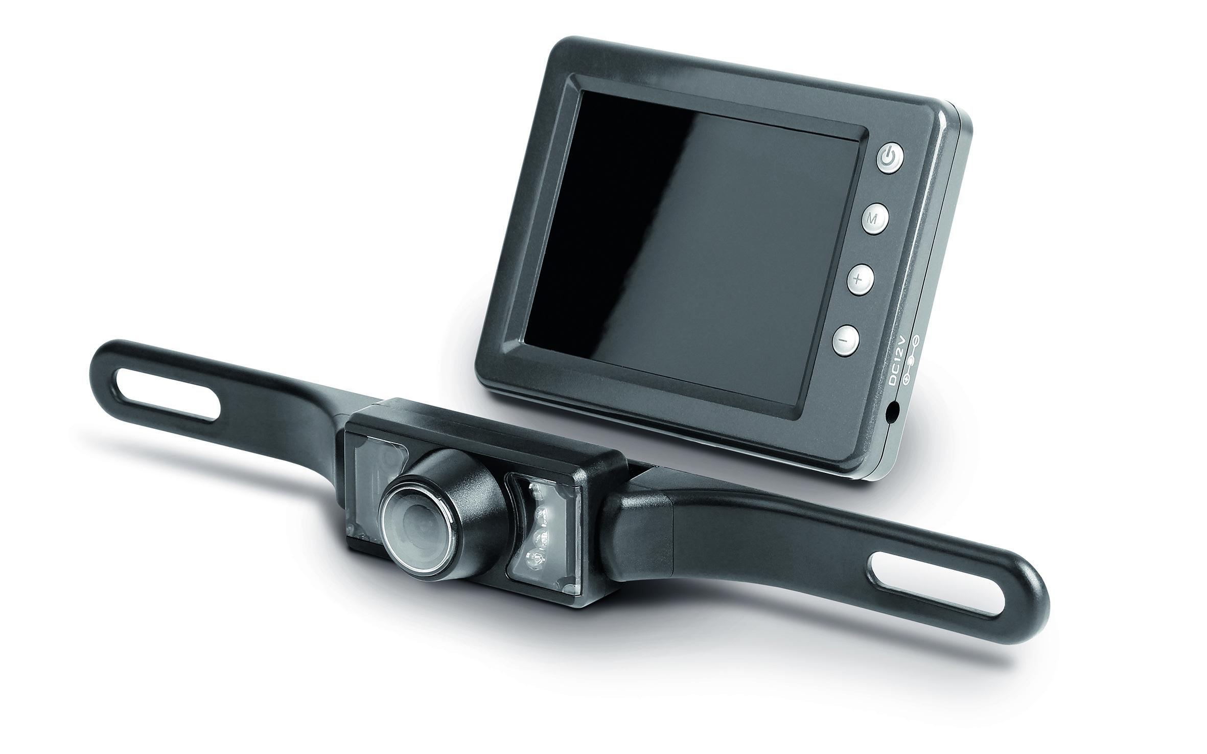 """Rückfahrkamera kabellos 12V 3,5"""" Monitor mit Abstandshilfslinien für Wohnmobil"""