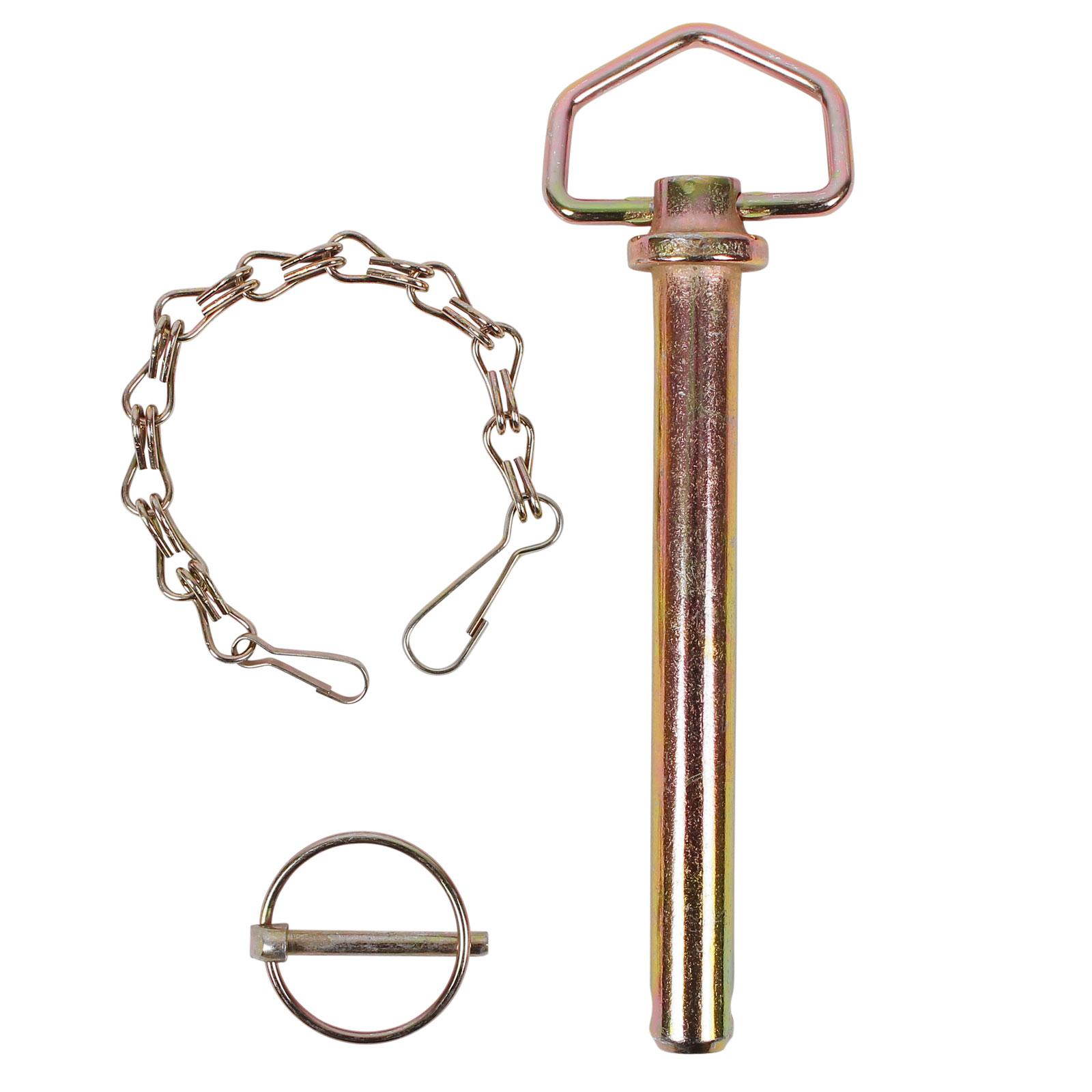Steckbolzen Ø 19 mm mit Klappsplint, Kette und Handgriff