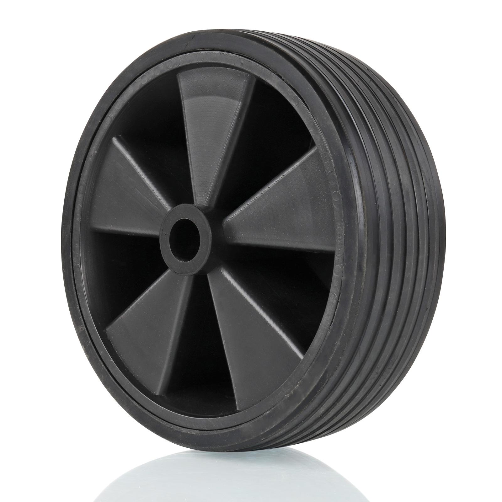 Stützrad Ersatzrad, Kunststoff-Felge, Vollgummi-Reifen, 220x70mm