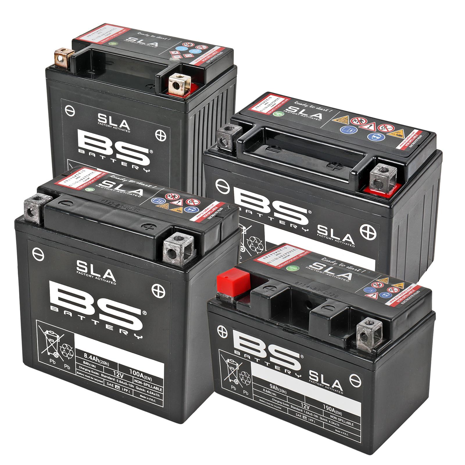 BS-Battery Motorradbatterie BB10L-A 12V 11Ah wartungsfrei AGM vorgeladen