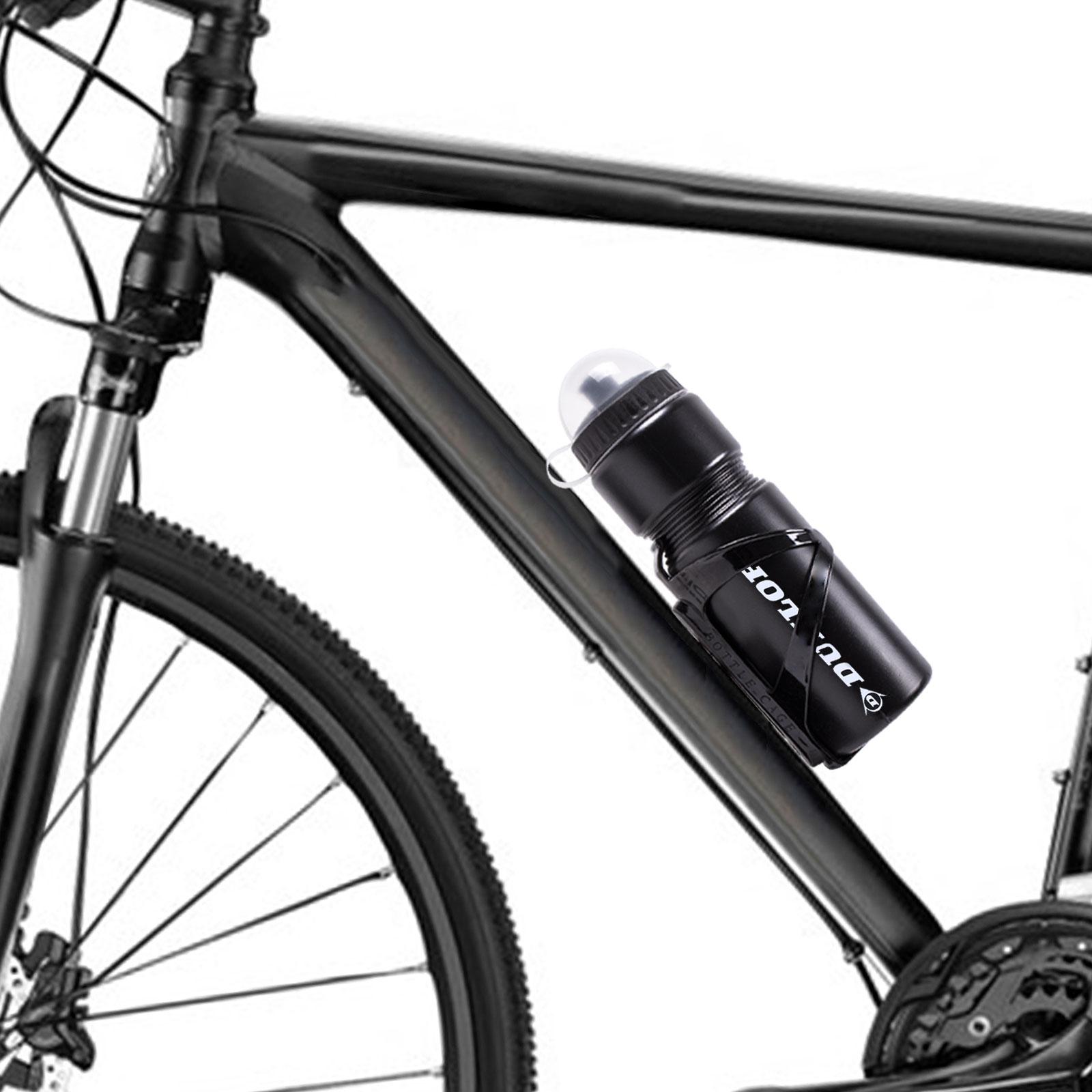 dunlop fahrrad trinkflasche 750 ml schwarz inkl halter. Black Bedroom Furniture Sets. Home Design Ideas