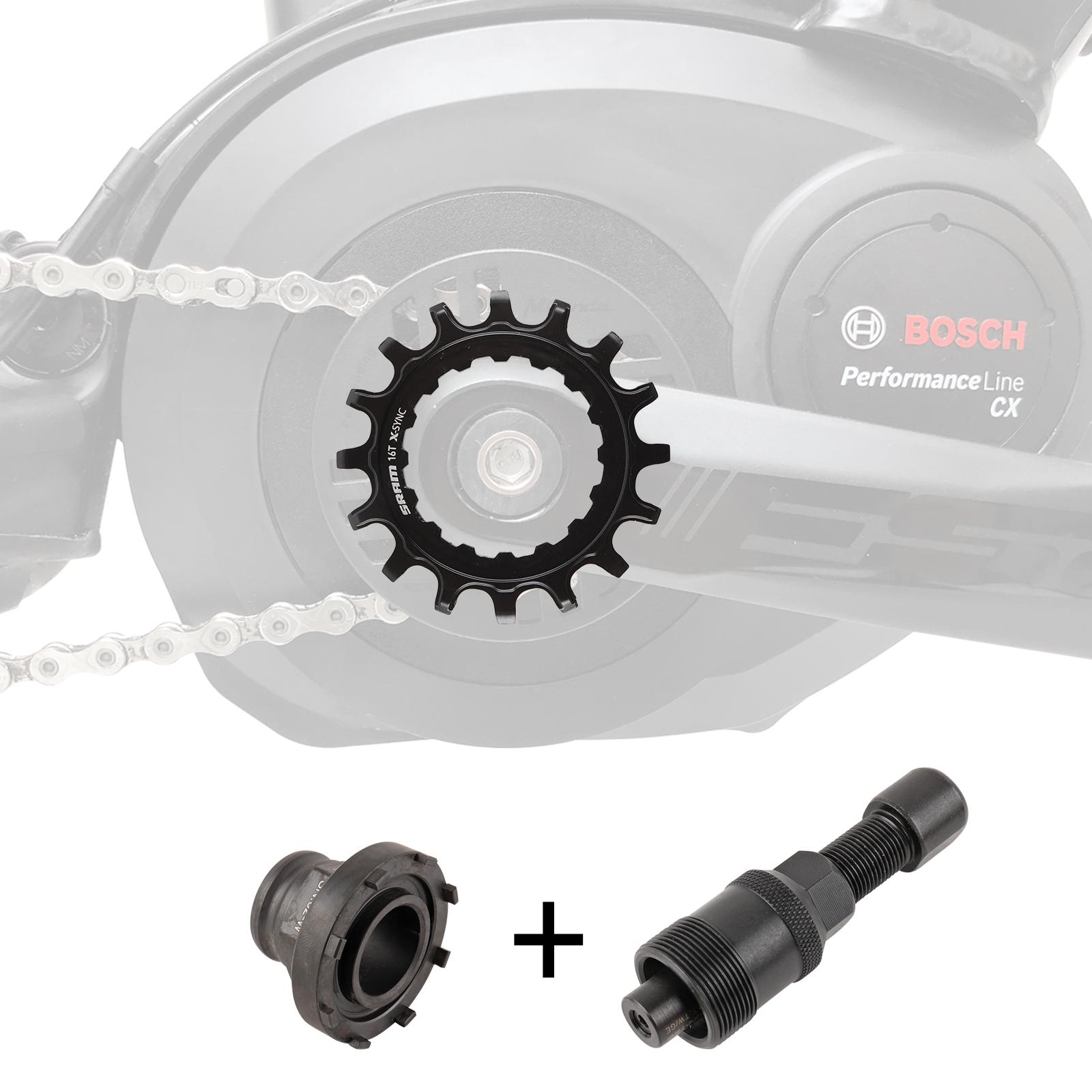 SRAM Kettenblatt 16T EX1 X-Sync™ für Bosch inkl. Montagewerkzeug