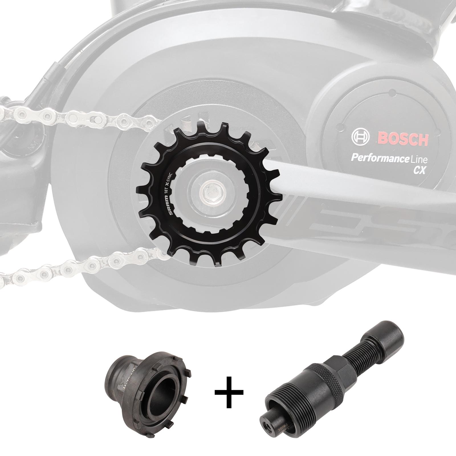 SRAM Kettenblatt 18T EX1 X-Sync™ für Bosch inkl. Montagewerkzeug