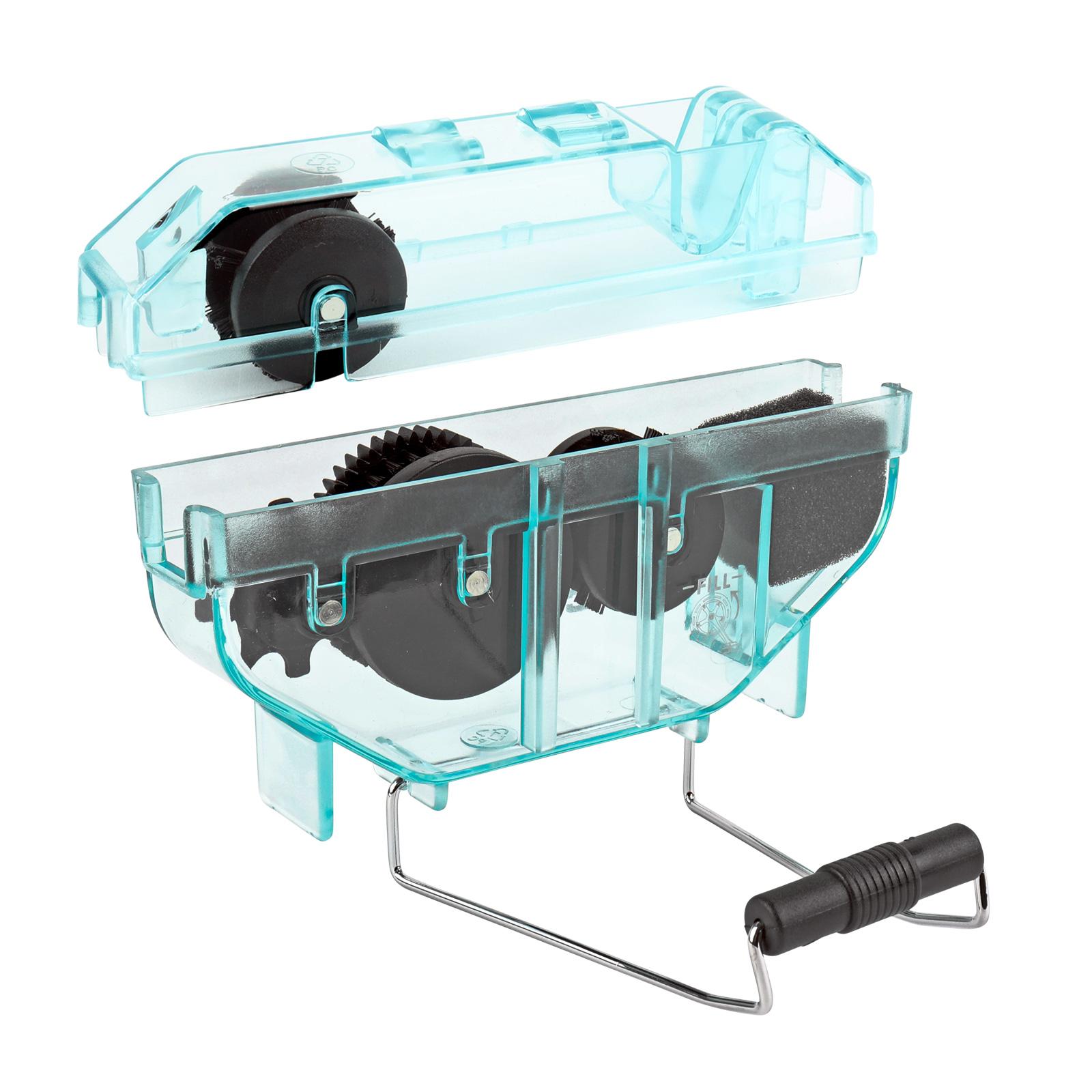 CONTEC Kettenreinigungsgerät, tropffestes Gehäuse, blau - transparent