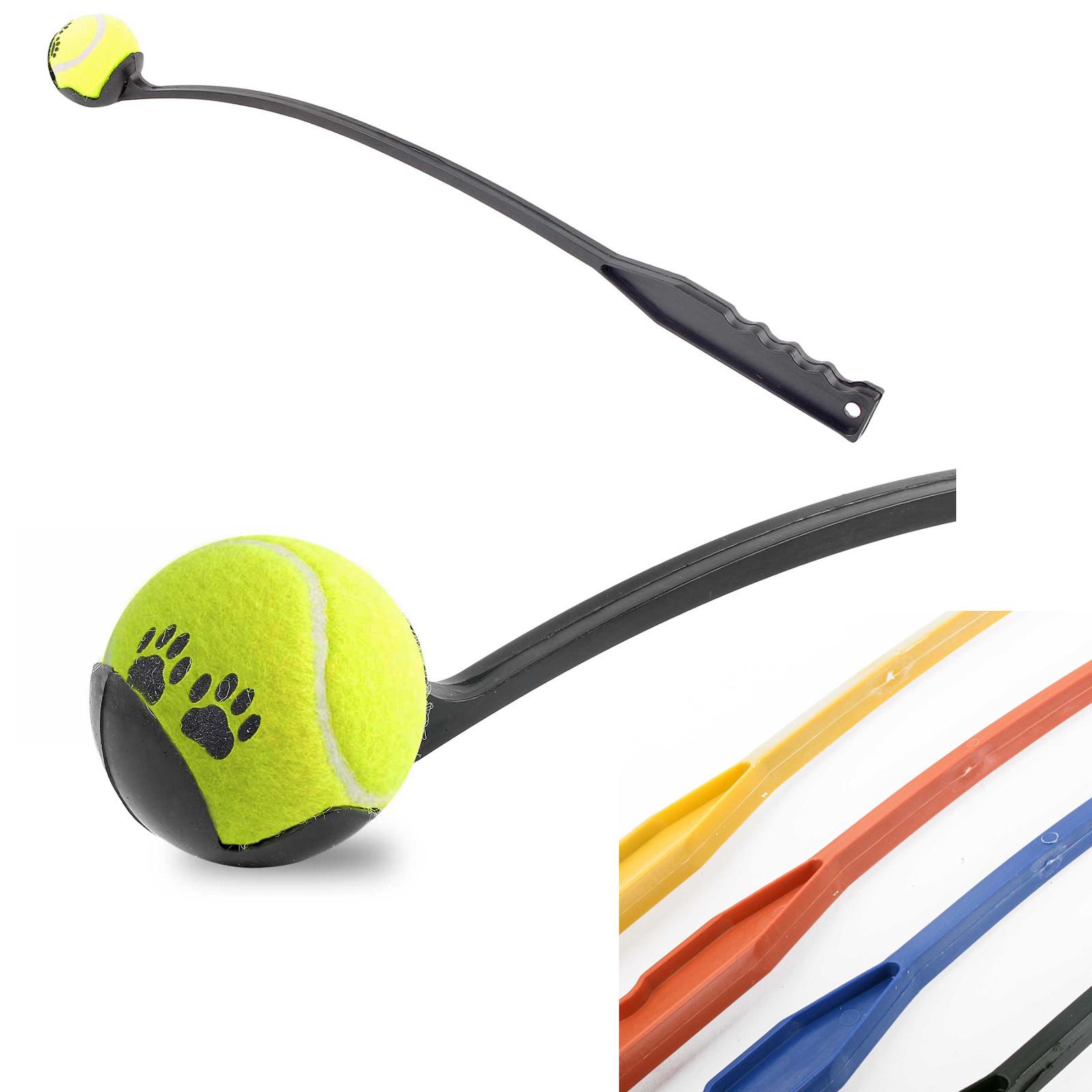 🐕 Ballschleuder Hund 63 cm 4 Farben ❤️💛💙🖤 Ballwerfer Wurfarm