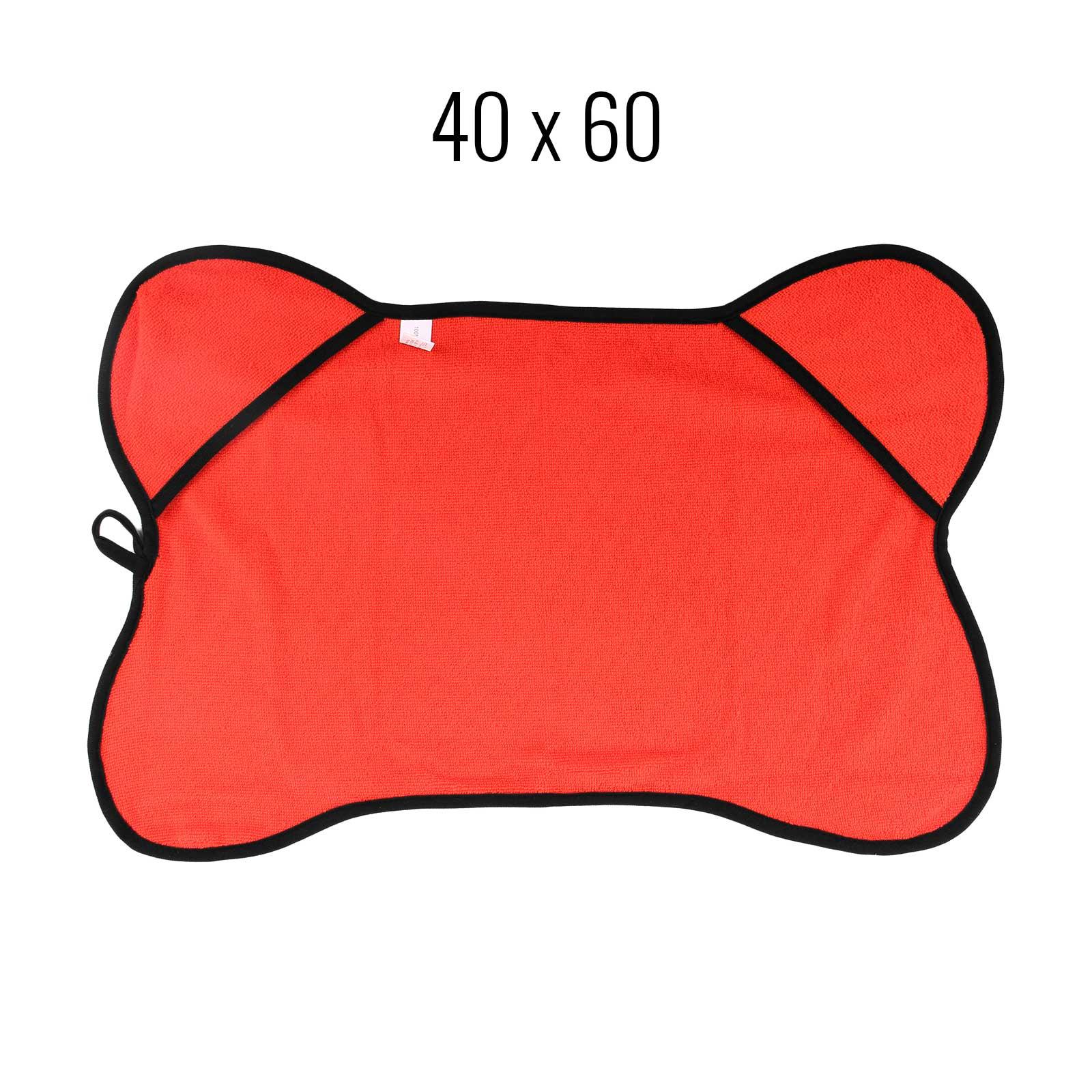Haustierhandtuch 40x60 cm rot