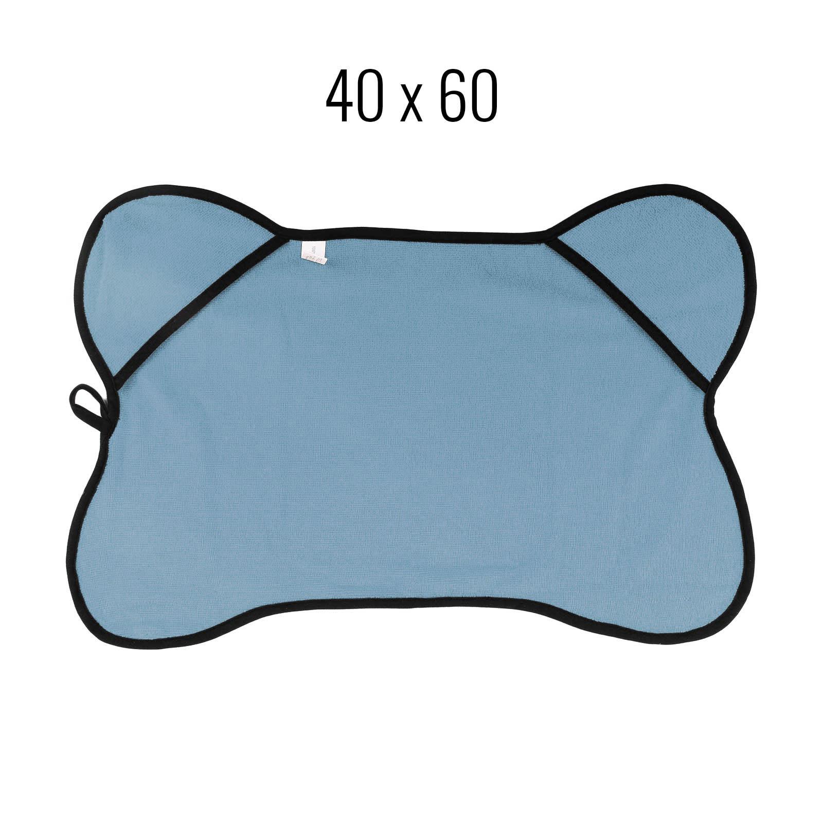 Haustierhandtuch 40x60 cm blau grau