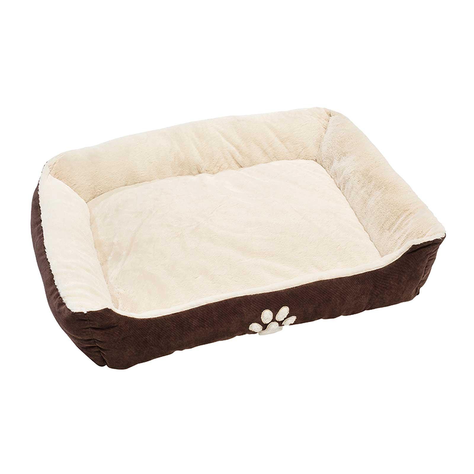 Hunde Luxus Kissen Hundebett 90 x 70 x 20 cm, Braun