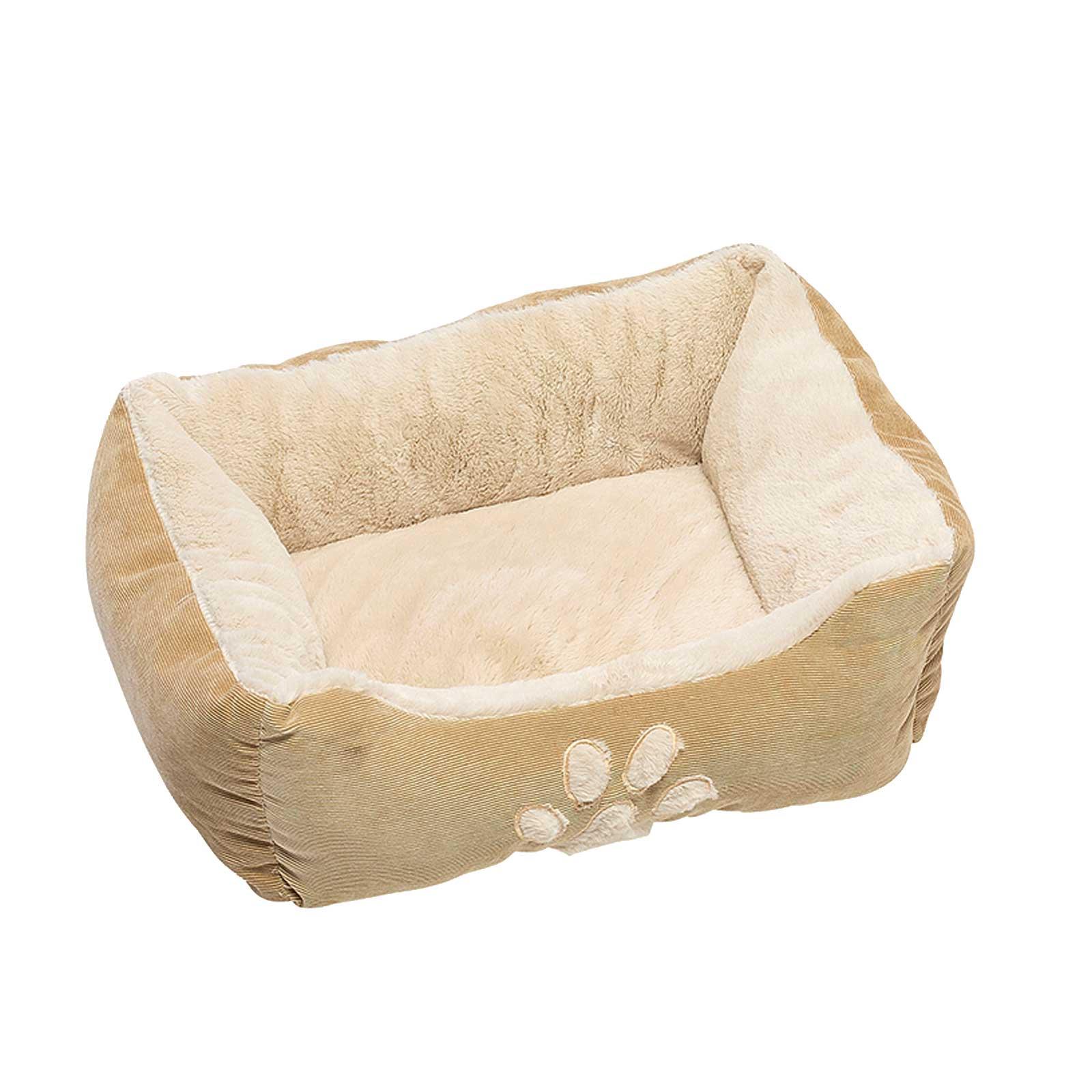 Hunde Luxus Kissen Hundebett 47 x 37 x 17 cm, Beige