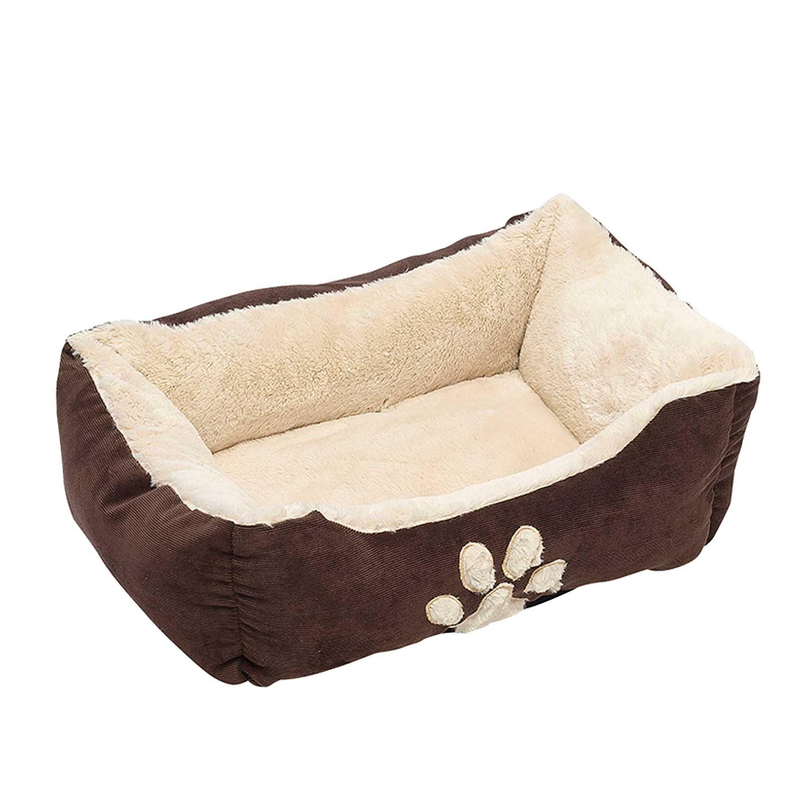 Hunde Luxus Kissen Hundebett 47 x 37 x 17 cm, Braun