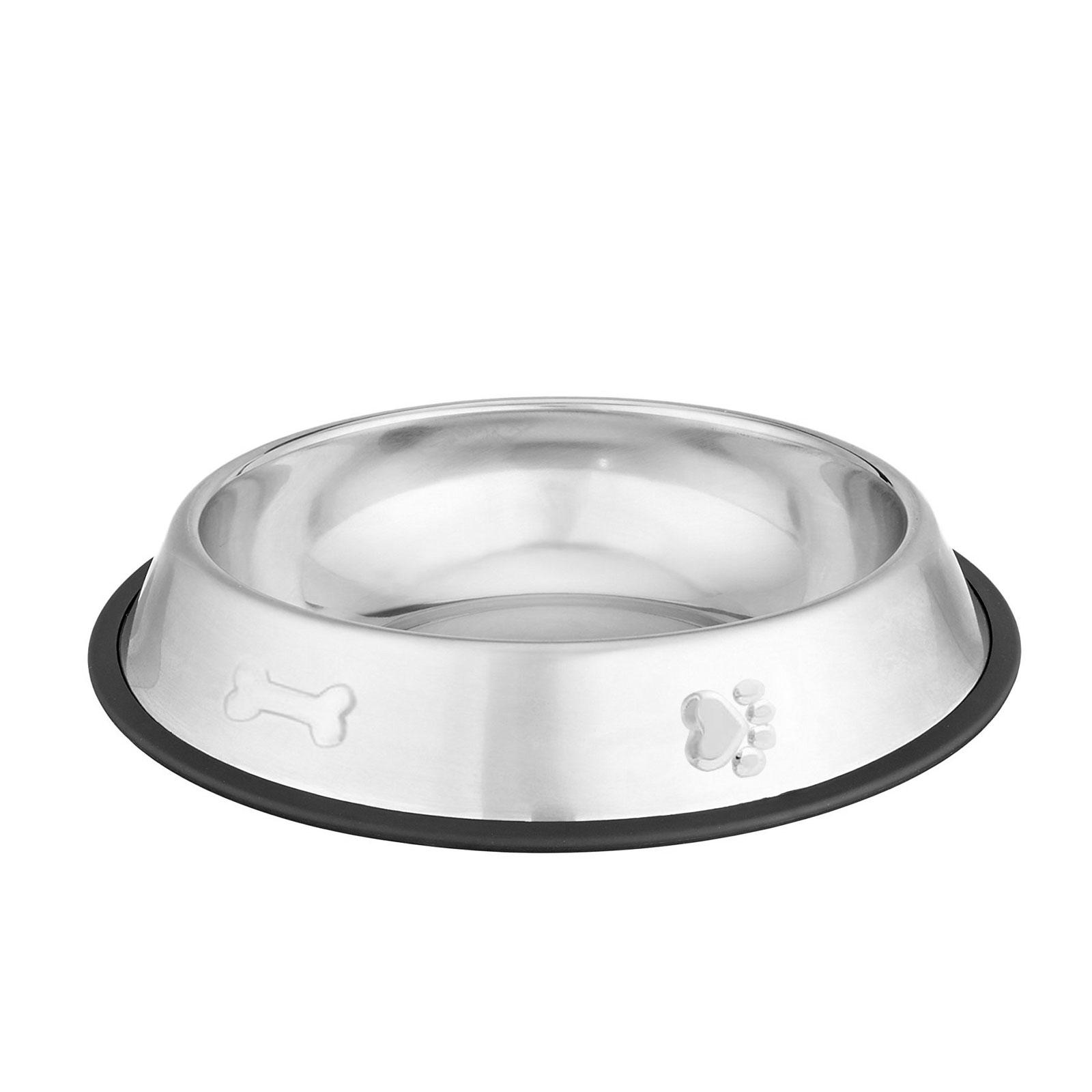 Edelstahl Hundenapf mit gummiertem Bodenrand 250ml Ø 12-16 cm