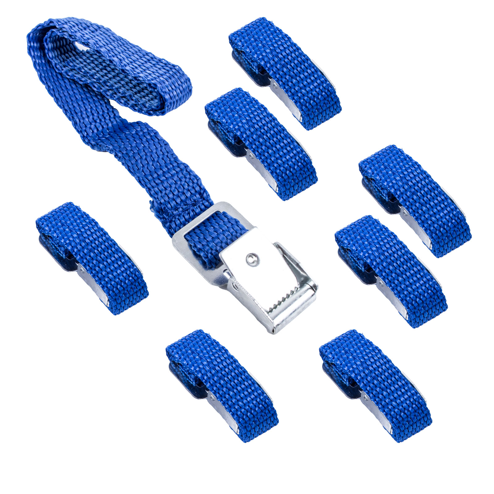 Befestigungsriemen für Fahrradträger, 8 Stück, 40 cm, blau