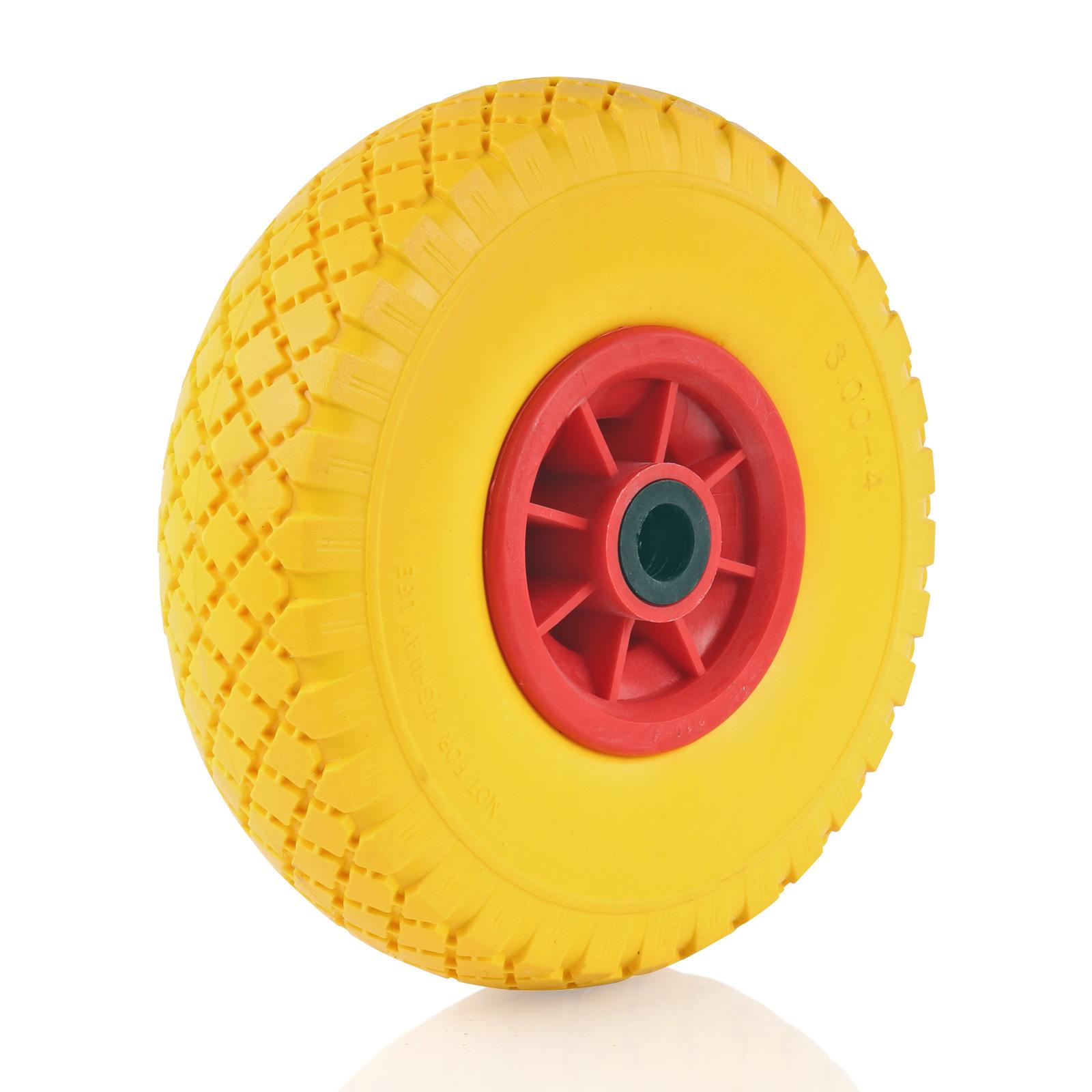 "PU-Reifen mit Kunststoff-Felge 10"" 3.00-4"