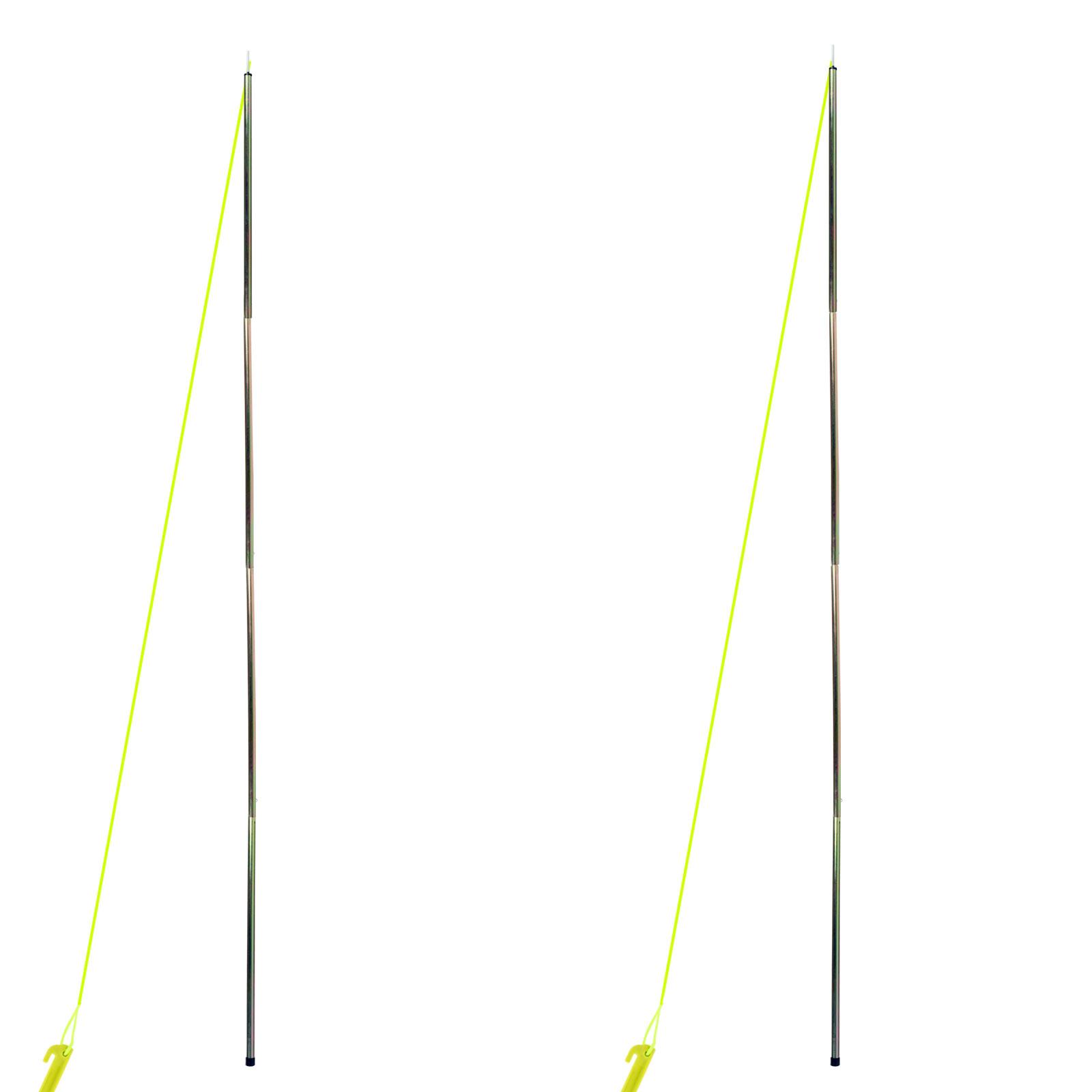 Aufstellstangen Sonnensegel 2er Set 200 cm 4 Teilig Stahl inkl Leinen & Heringe