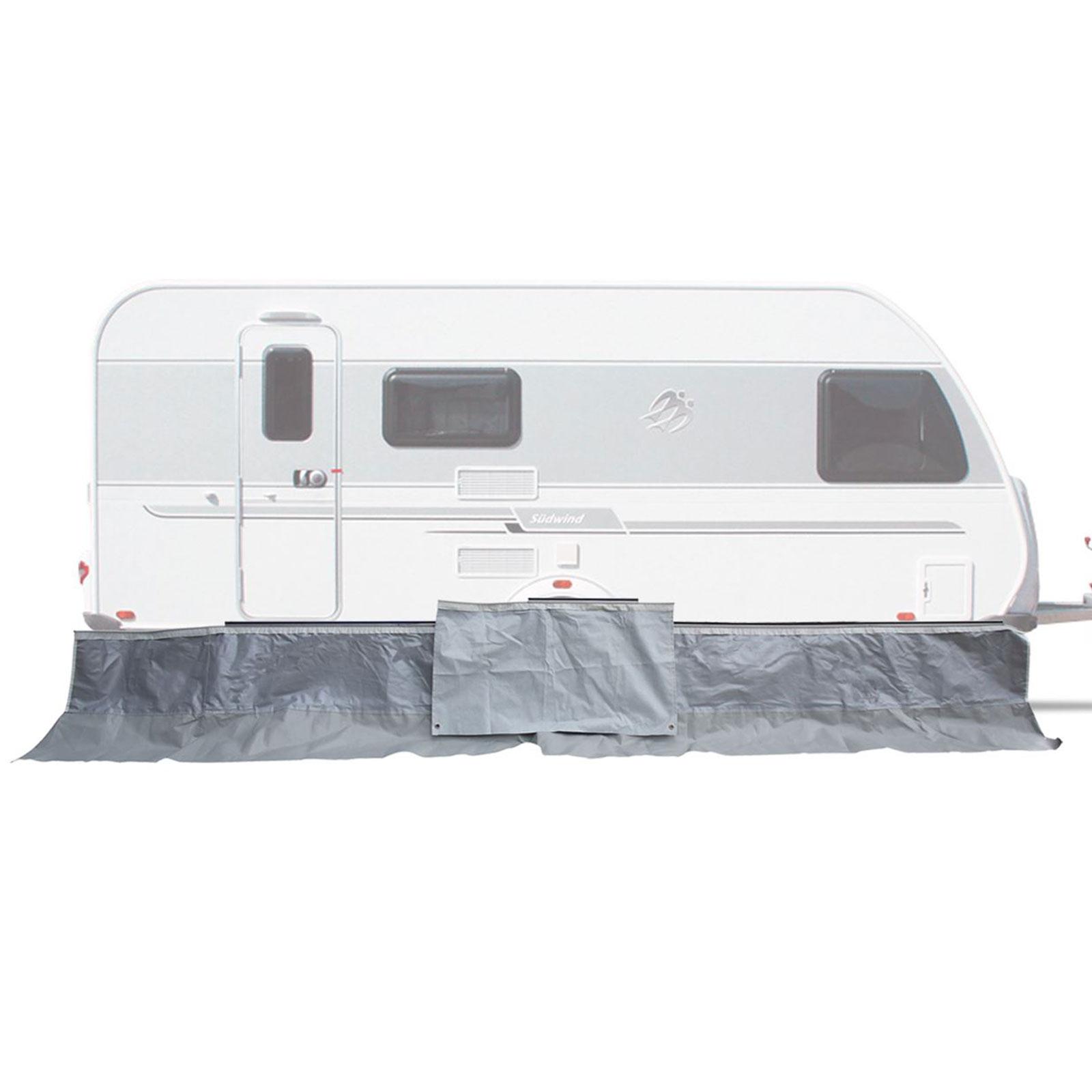 Wohnwagenschürze, PVC, 7 mm Keder, 500 x 70 cm, Radkastenabdeckung