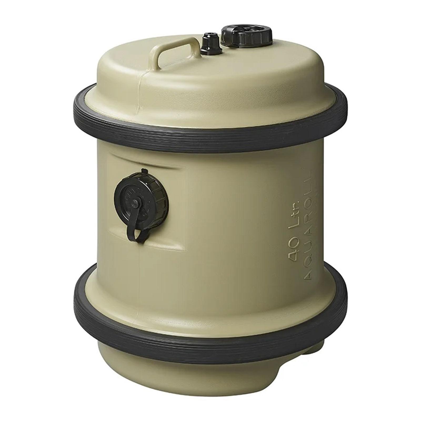 Aquaroll Frischwasser Rolltank Wassertank 40 l beige