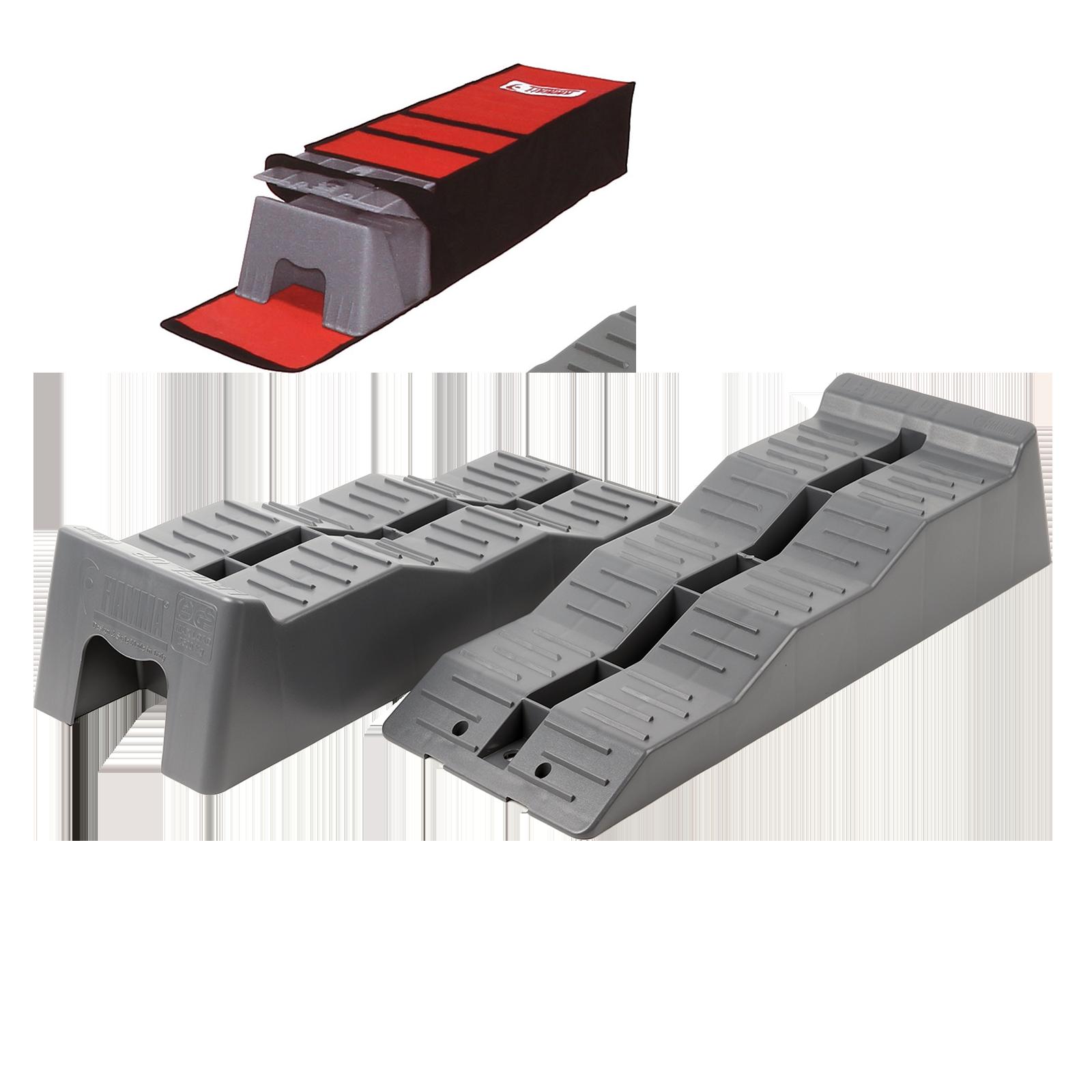 Fiamma  Level Up Ausgleichskeil | 2er Set + Tragetasche | 4–10cm | grau | Levell