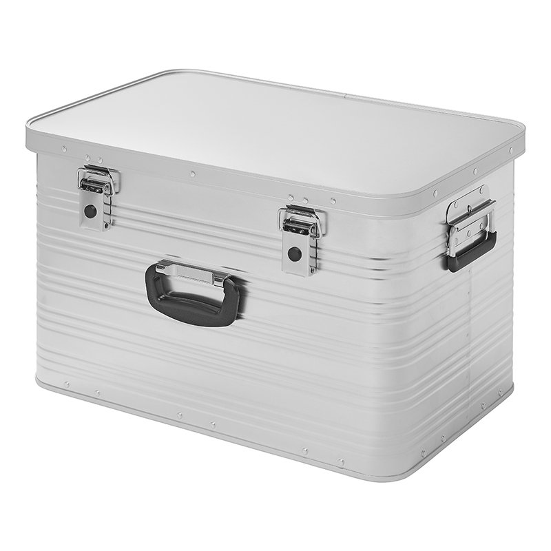 Transportbox Aluminiumbox stapelbar 65L Werkezugkiste Stauraum + Aufbewahrung