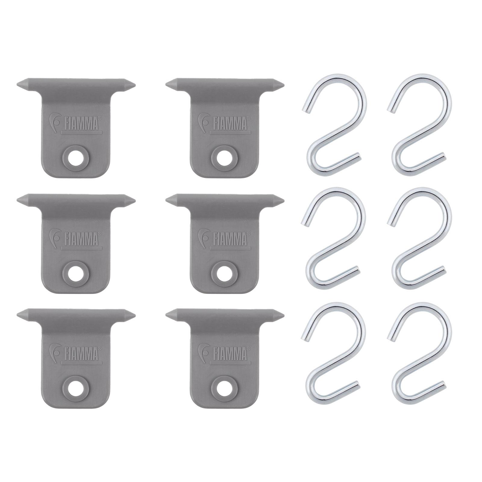 Markisen S-Haken 6er Set für Fiamma & Omnistor 7 mm Kederschiene Hangers Kit