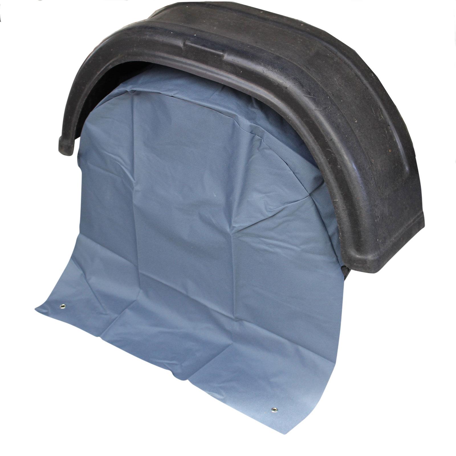 Wohnwagen Radabdeckung grau UV Schutz Polyestergewebe mit Anker Ösen