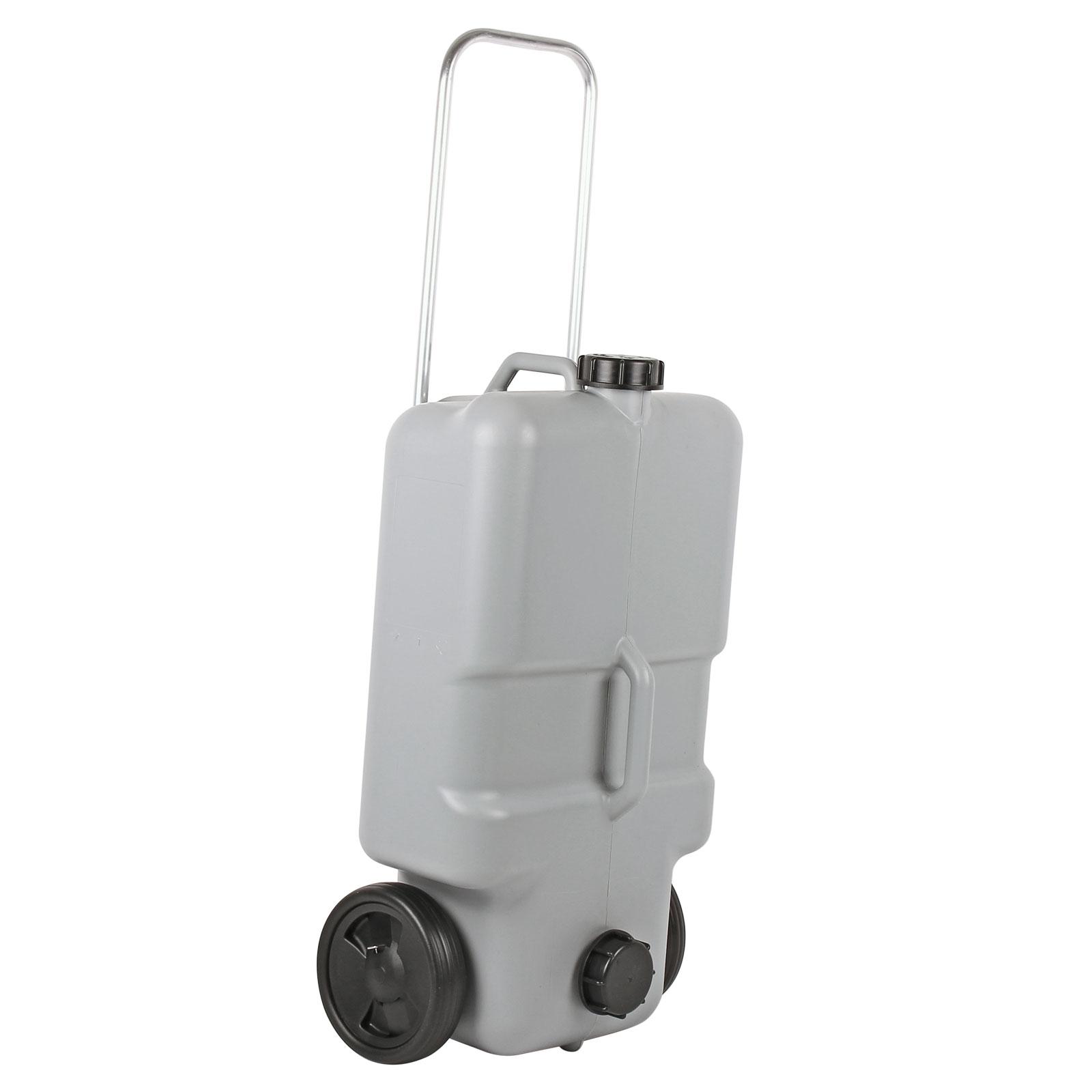Abwasser Rolltank 25 Liter mit Rollen, ausziehbarer Griff, Grau