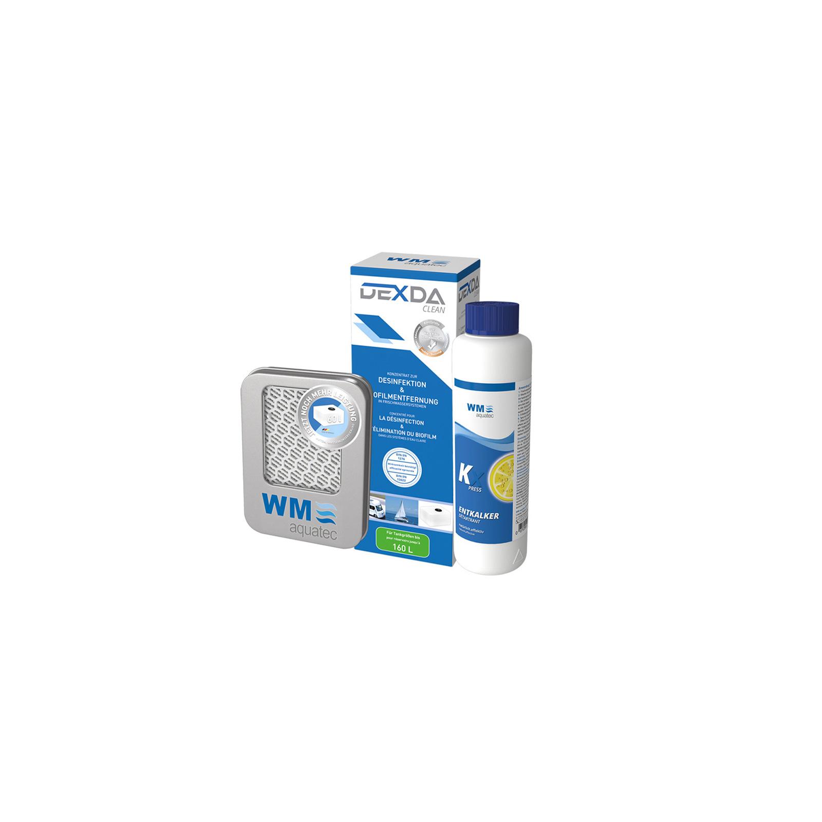 Hygiene Trio Frischwassersystem bis 160 l Entkalker Desinfektion Silbernetz