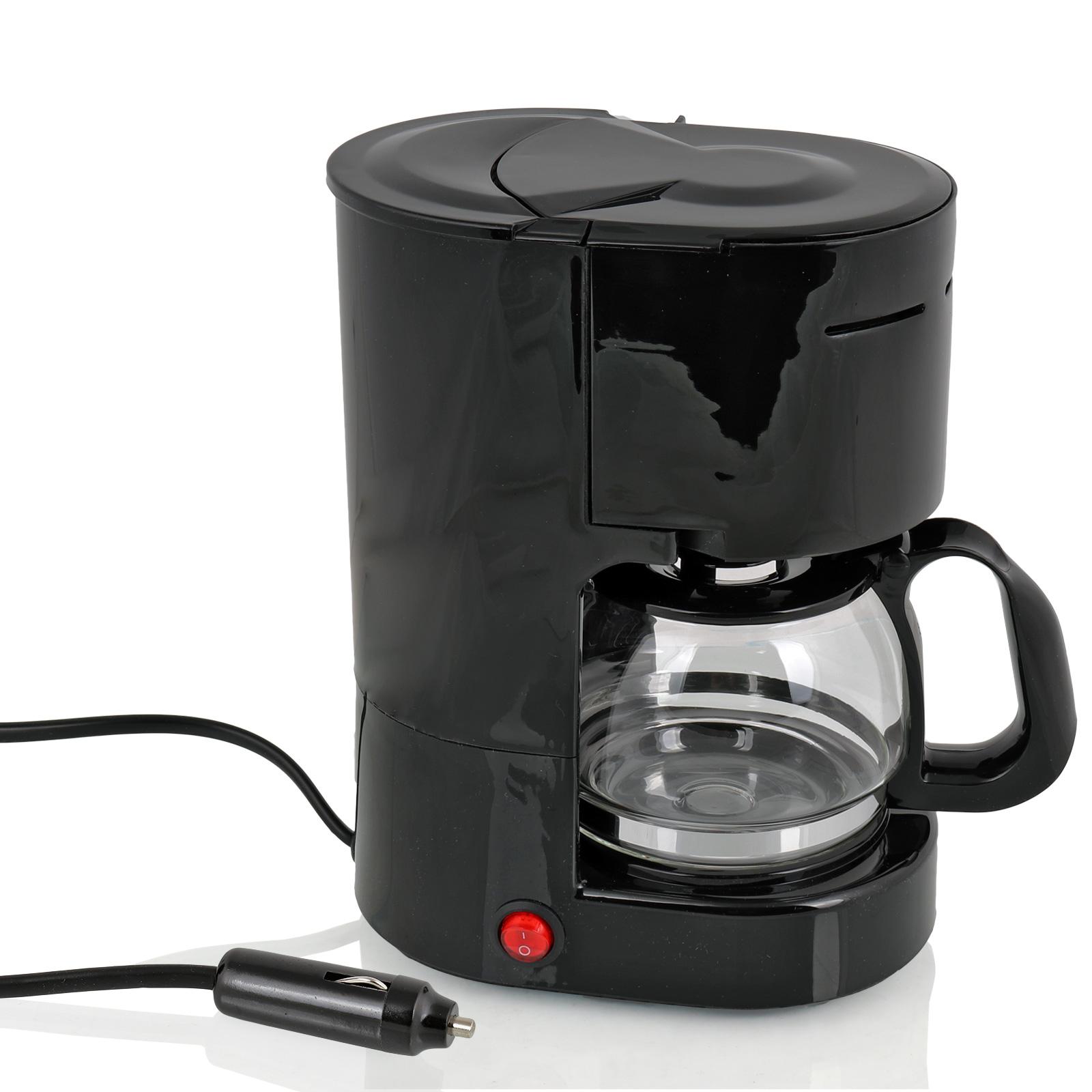 Kaffemaschine 12 Volt 170 Watt, 4-6 Tassen, Dauerfilter, Glaskanne