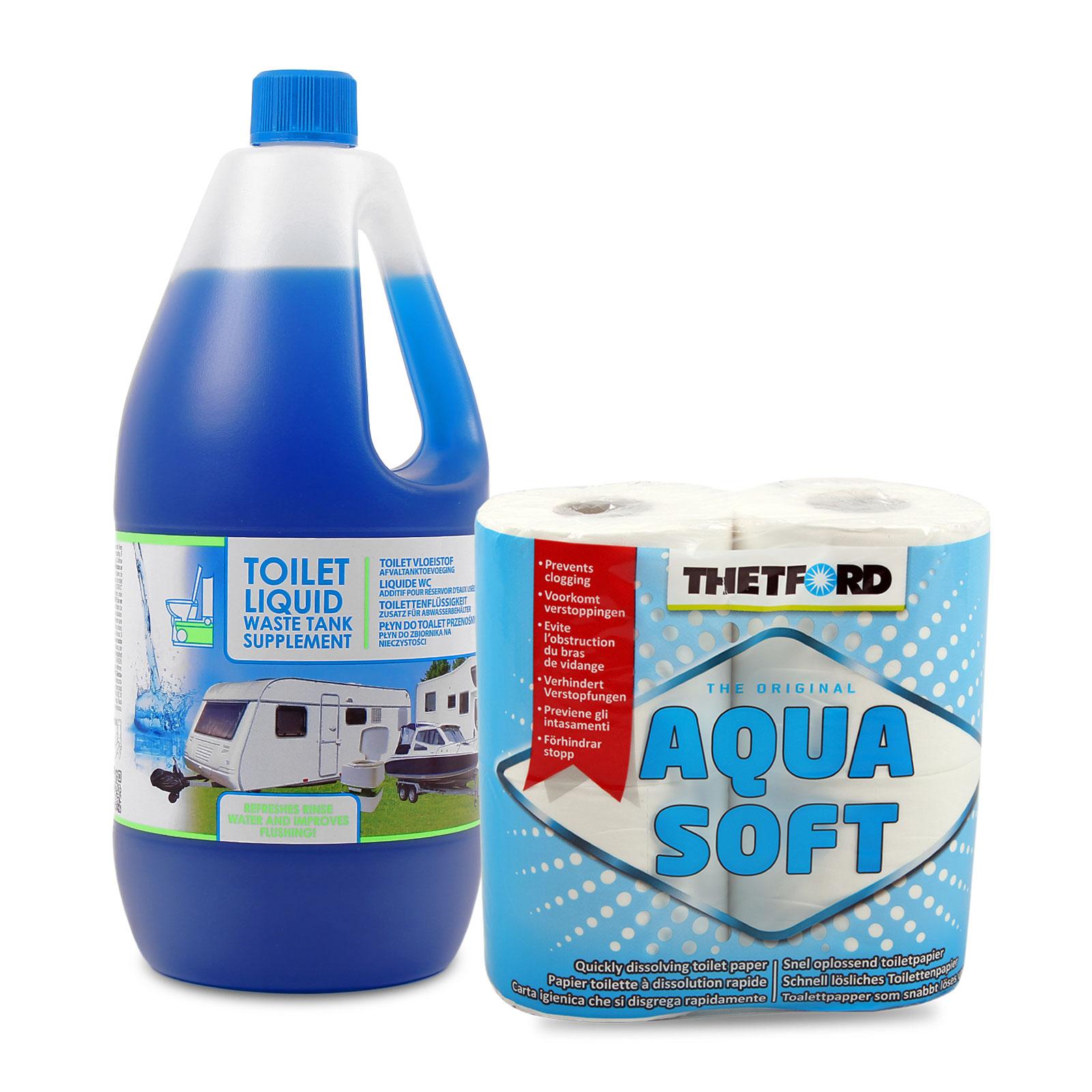 Sanitärflüssikteit Set, 2 L Toilettenflüssigkeit (Abwasser)