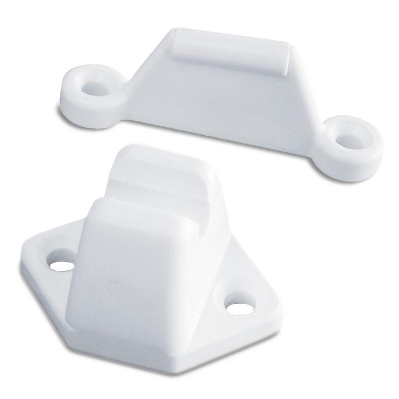 Türfeststeller Set 2 tlg., Lochabstand: 30 mm, 45 mm, weiß