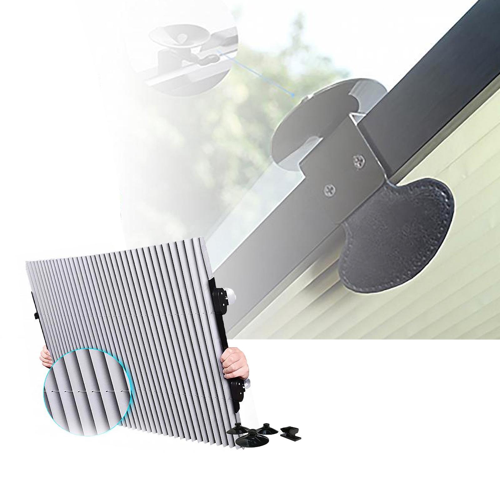 Frontscheibenrollo Plissee für Frontscheibe innen, 80cm, universal