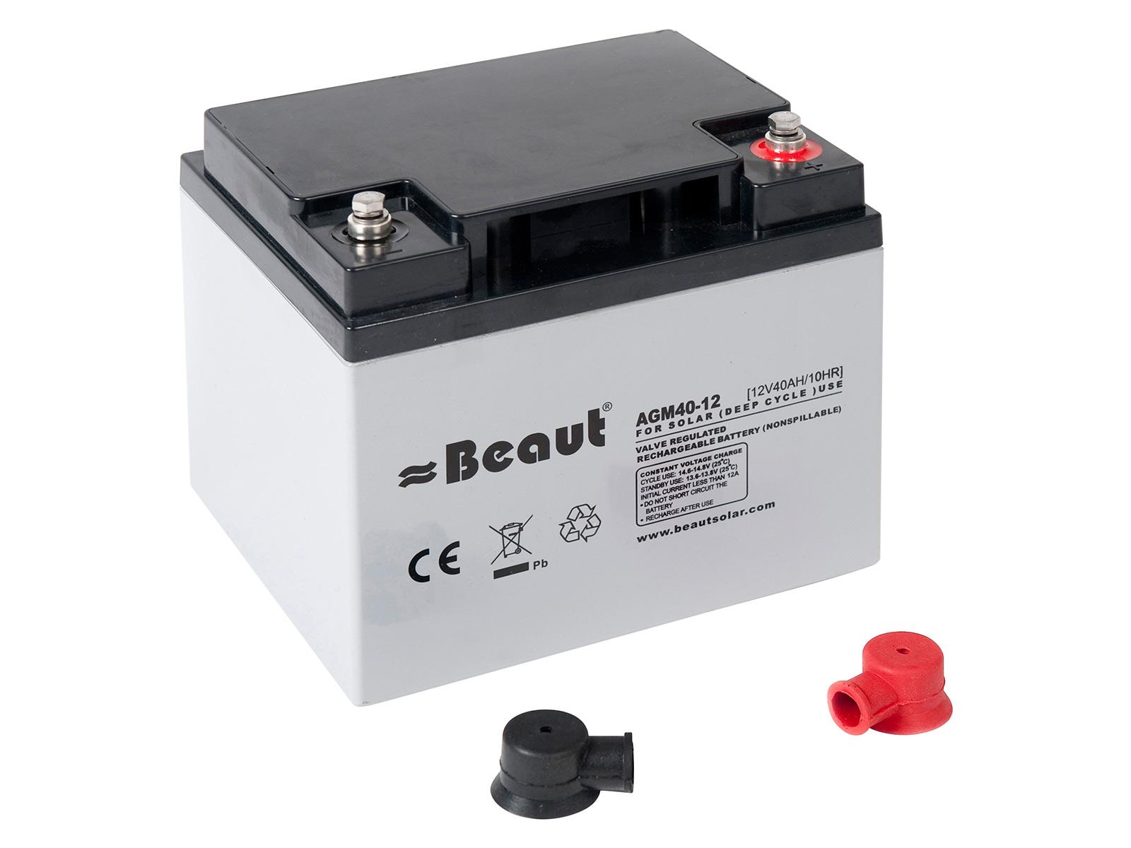 Solar Batterie Beaut 40 A 12 Volt AGM 198 x 166 x 171 mm