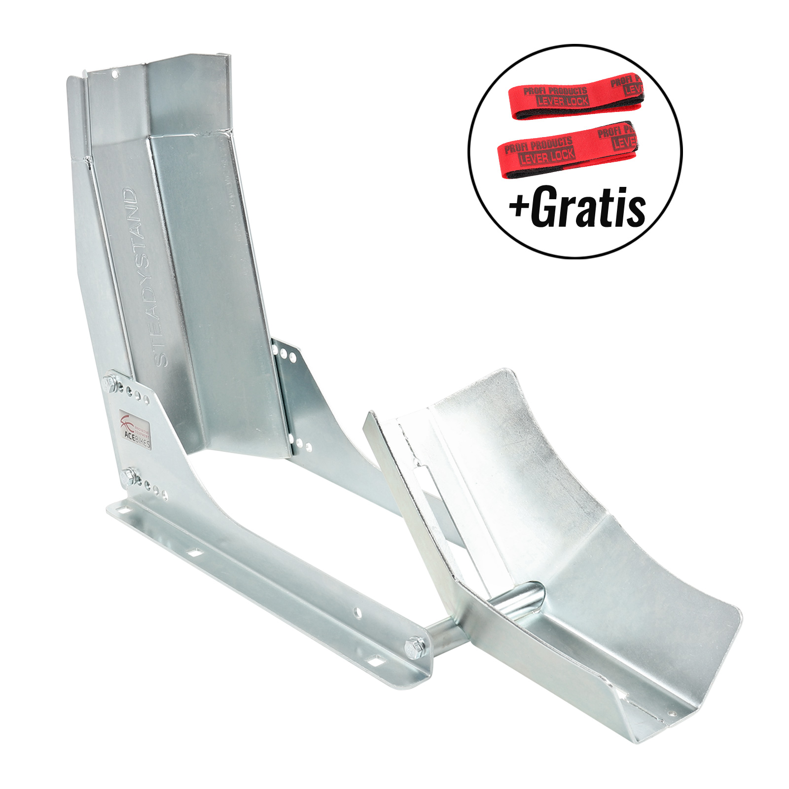 """ACE Bikes SteadyStand  Fixed Modell 152 Motorrad Wippe 10"""" - 19"""" 90 - 130 mm"""