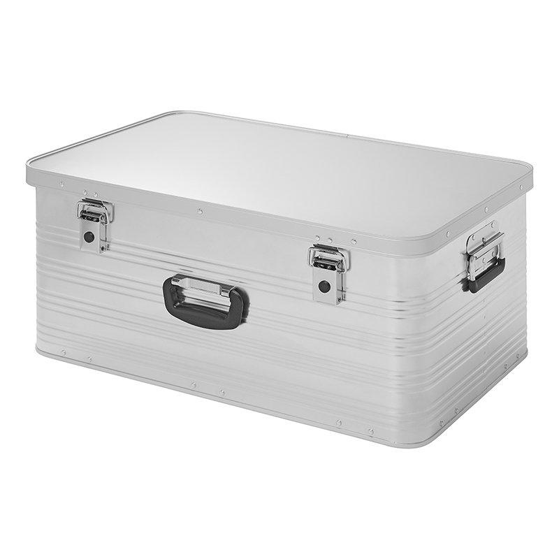 Transportbox Aluminiumbox stapelbar 84L Werkezugkiste Stauraum + Aufbewahrung