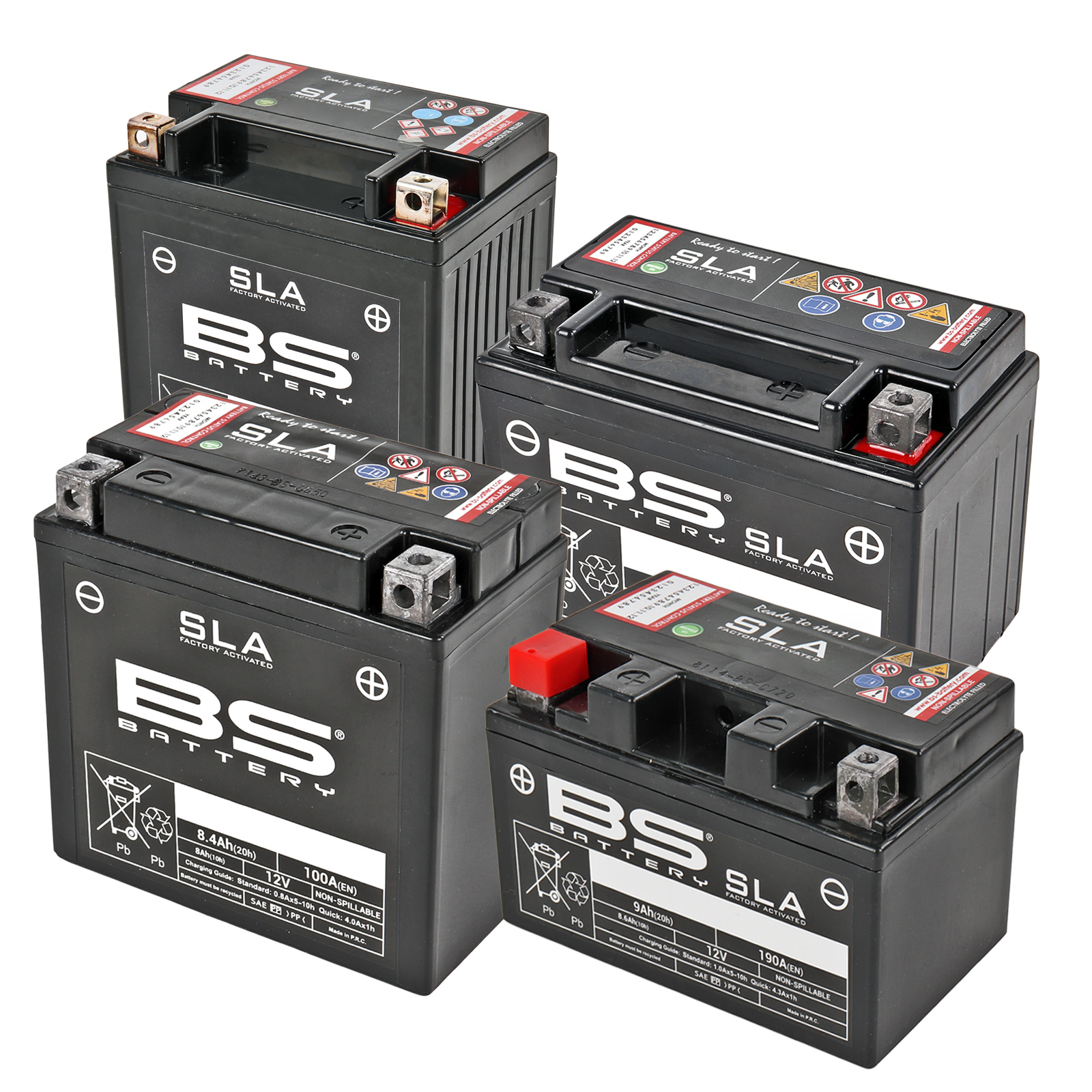 BS-Battery Motorradbatterie YB4L-B 12V 5Ah wartungsfrei AGM vorgeladen