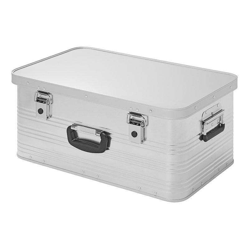 Transportbox Aluminiumbox stapelbar 49L Werkezugkiste Stauraum + Aufbewahrung